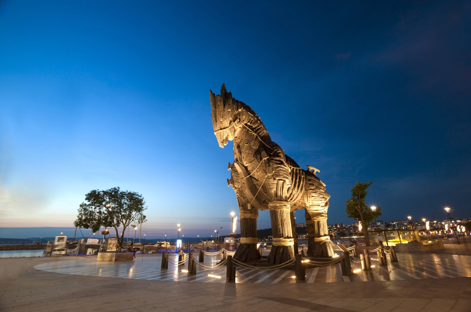 """The wooden horse used in the movie """"Troy"""" was gifted to Çanakkale in 2004."""