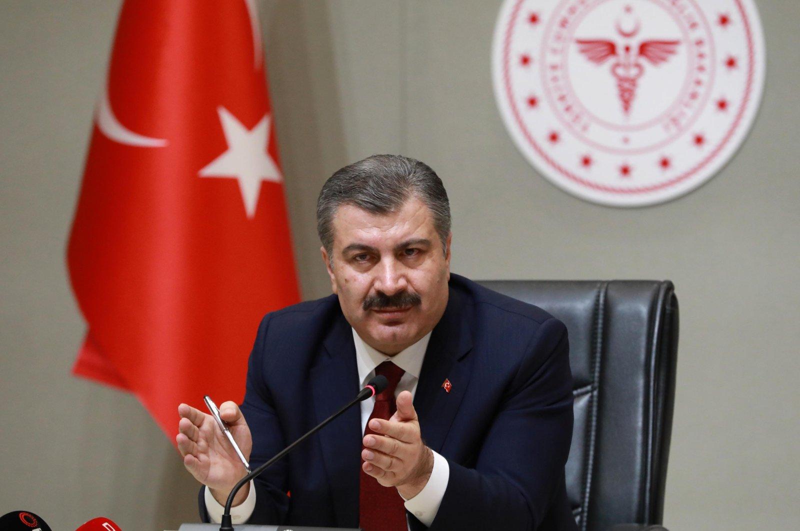 Health Minister Fahrettin Koca (DHA Photo)