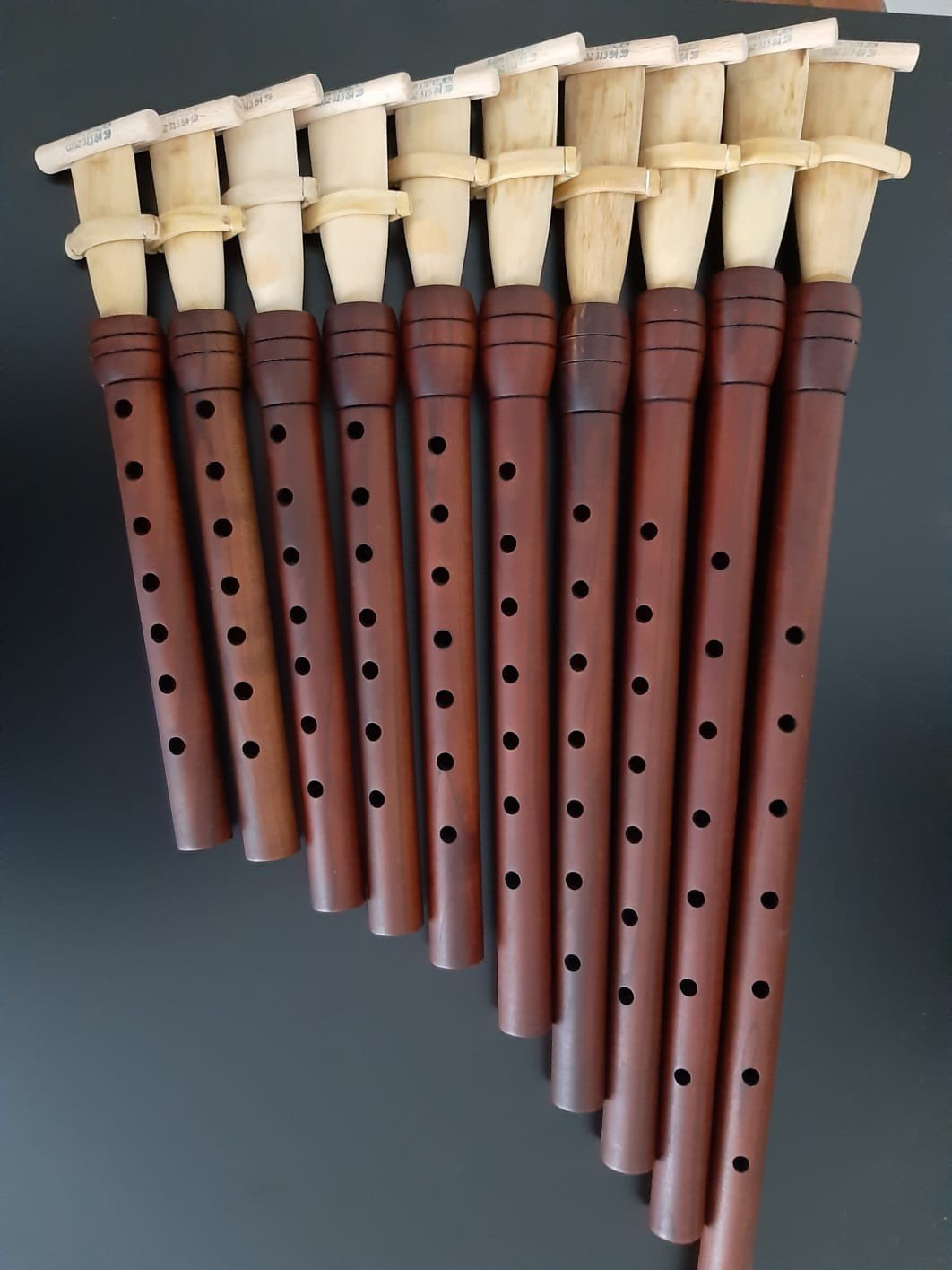 Mey/balaban is a cylindrical-bore, double-reed wind instrument about 35 centimeters long. (İHA Photo)