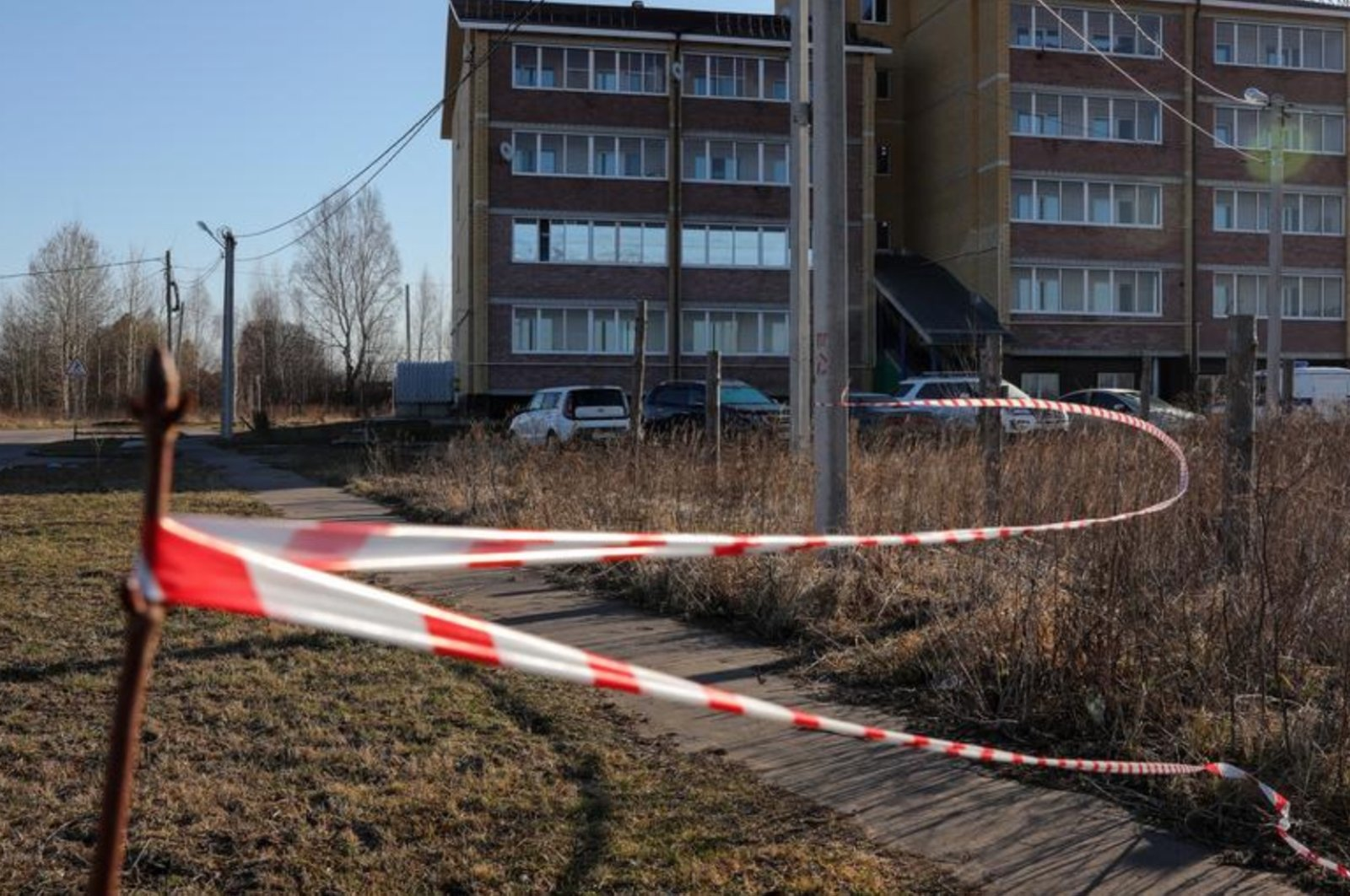 The crime scene in Russia's Ryazan (DPA Photo)