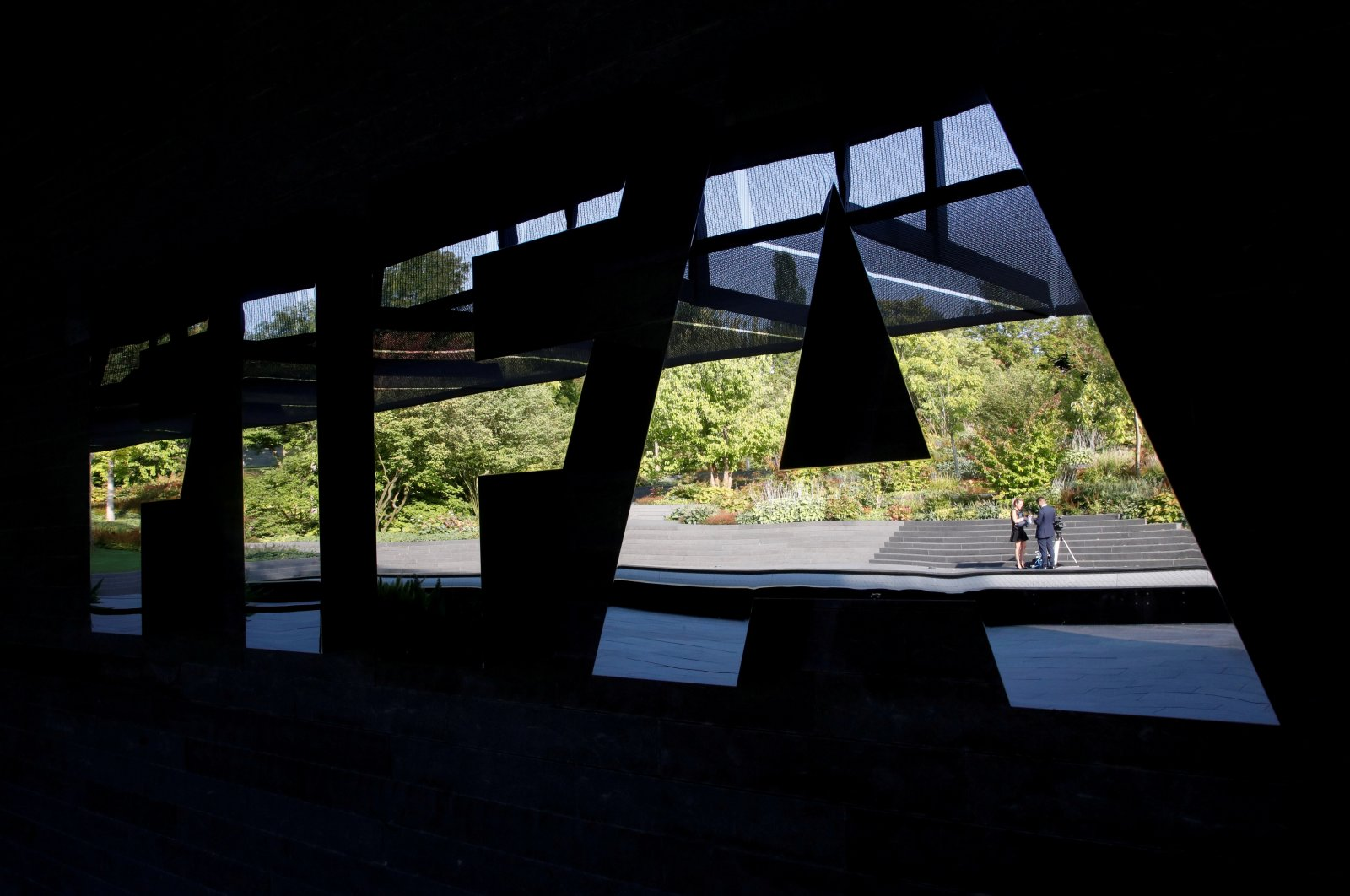 General view of the FIFA logo at the FIFA headquarters in Zurich, Switzerland, Sep. 4, 2018. (REUTERS Photo)