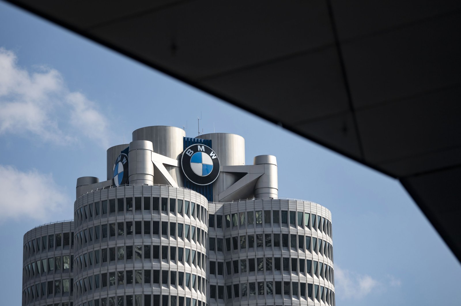 The company headquarters of the car manufacturer BMW in Munich, Bavaria, Germany, March 18, 2020. (EPA Photo)