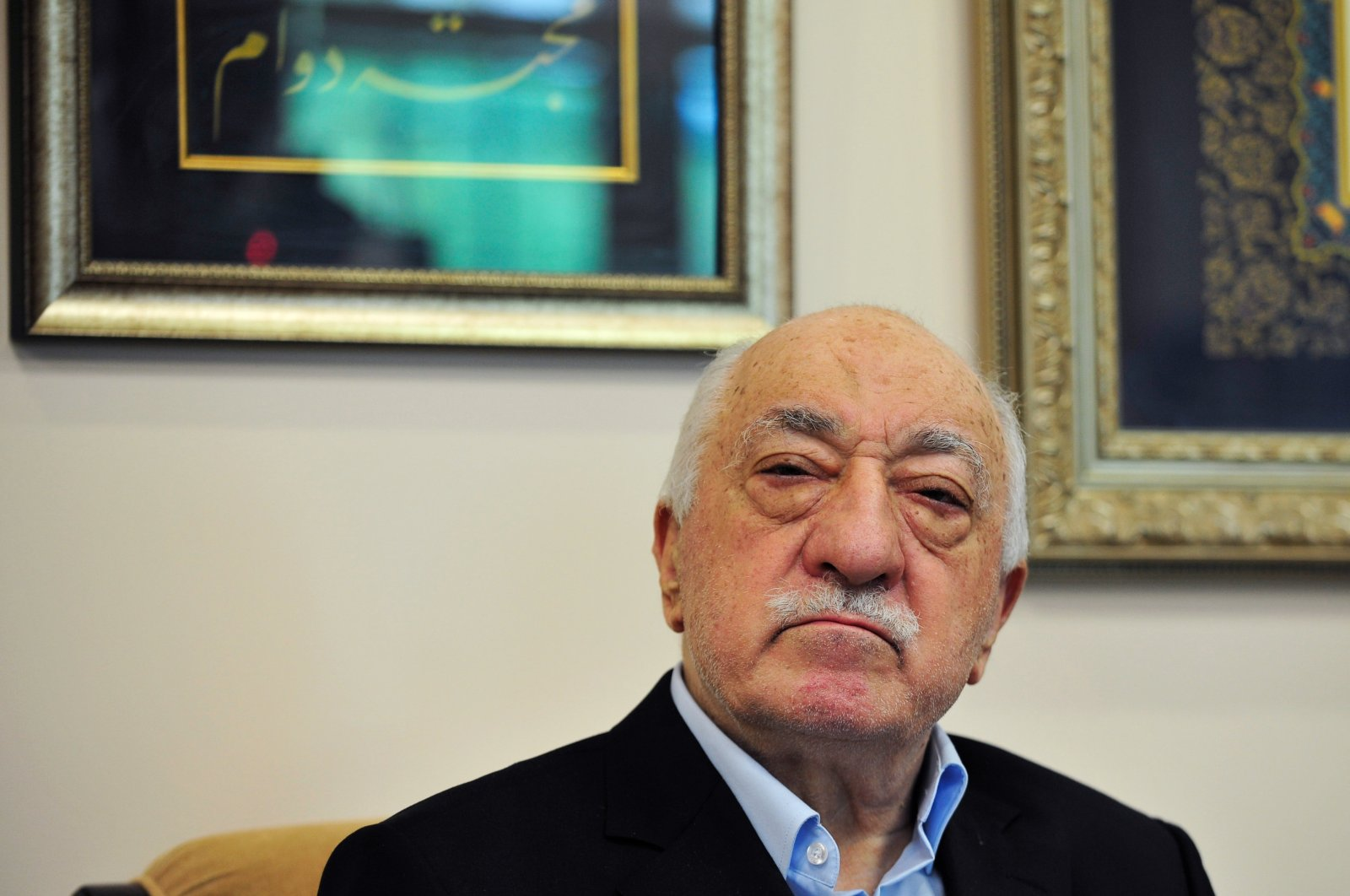 FETÖ leader Fetullah Gülen poses for a photo while speaking to members of the media at his compound in Saylorsburg, Pennsylvania, July 17, 2016. (AP Photo)