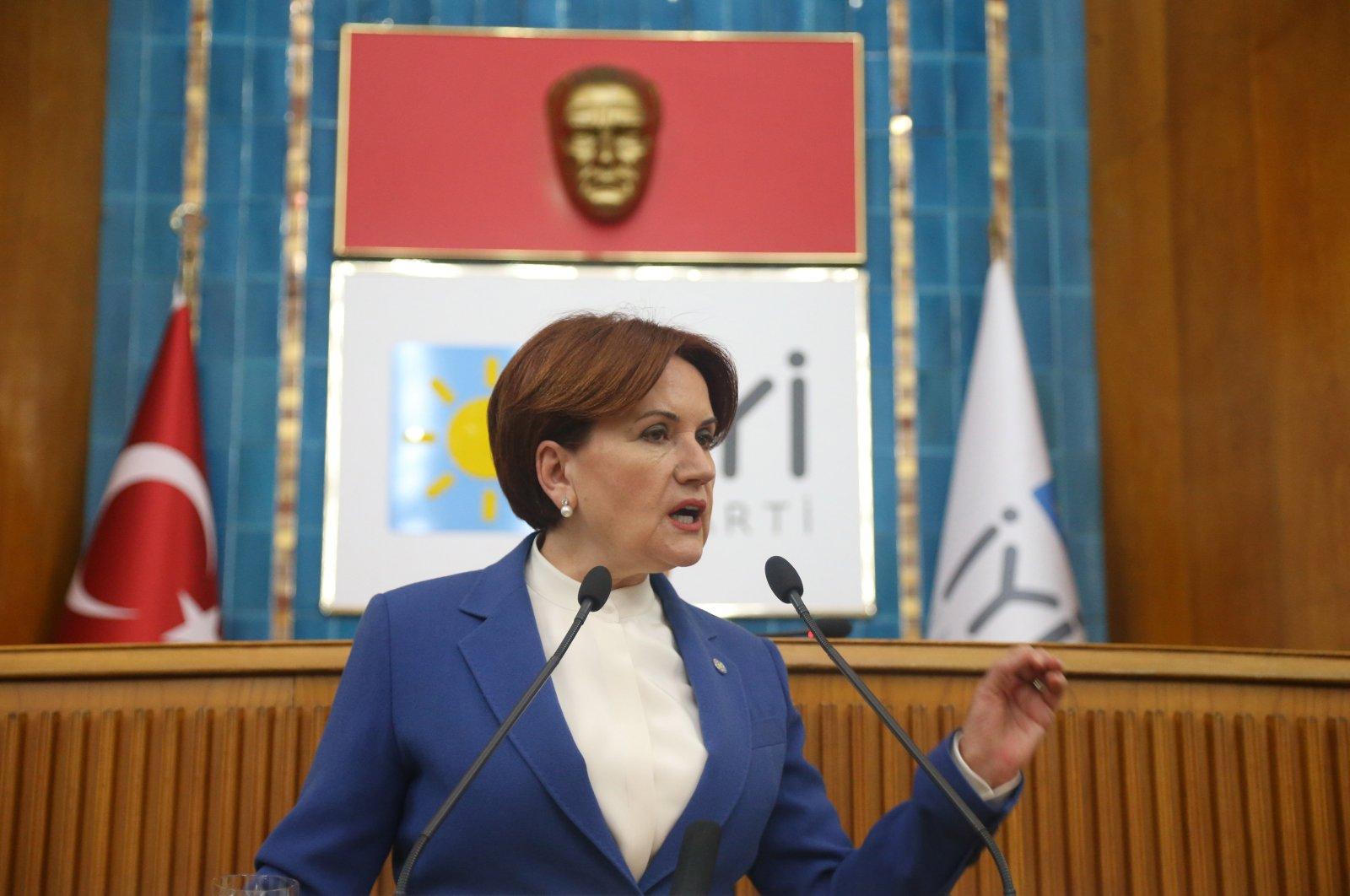 Good Party (IP) leader Meral Akşener speaking at a group meeting in Ankara, Feb. 11, 2020 (Photo by Ali Ekeyılmaz/SABAH)