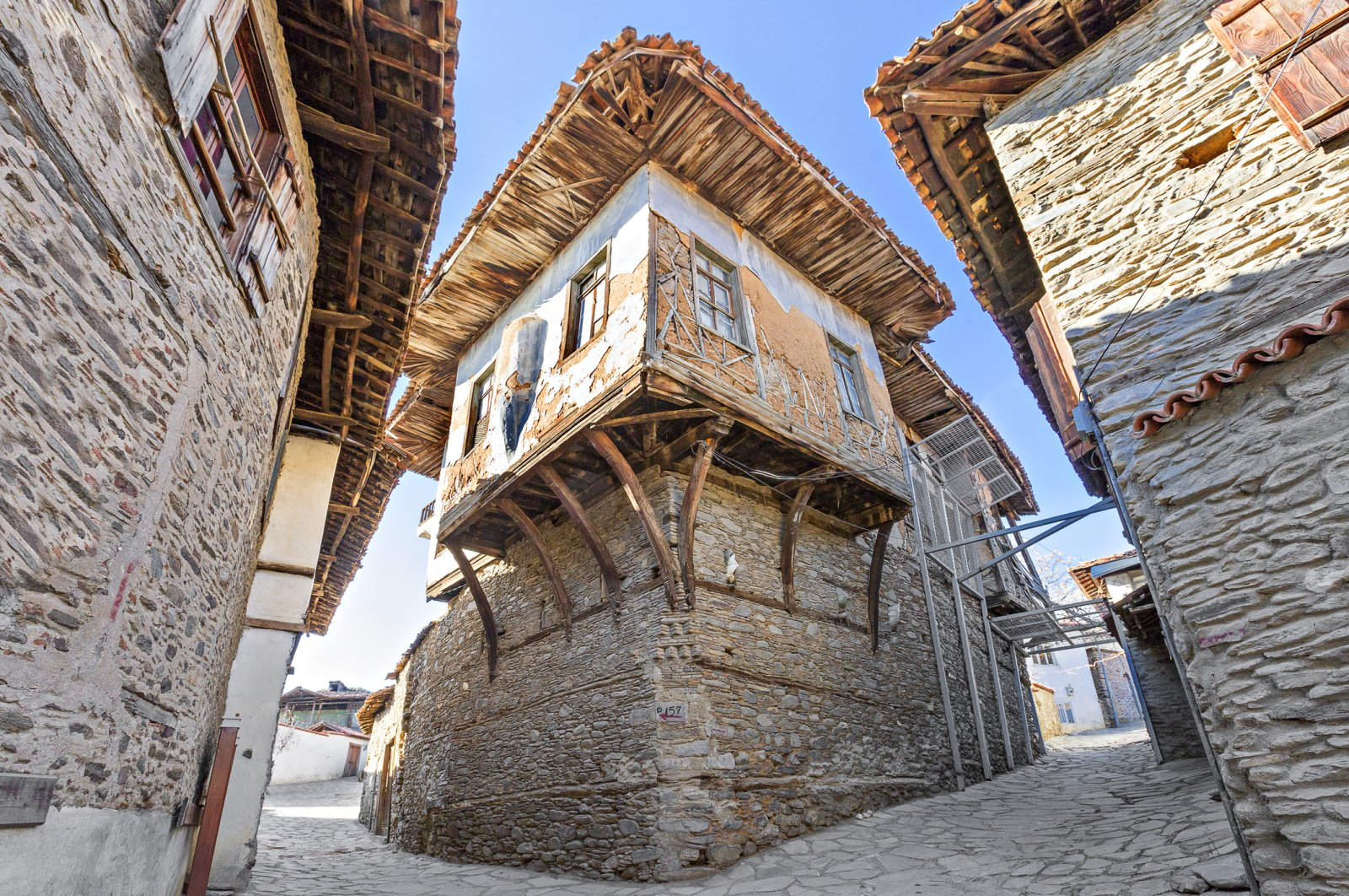 The Kerimağa Mansion was built with a wooden carcass system with bricks and mud mortar. (iStock Photo)