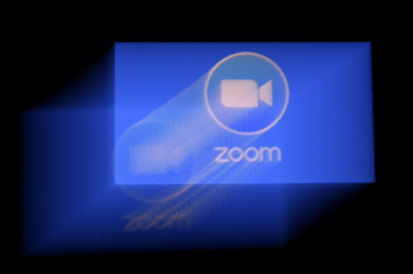 Zoom app logo is displayed on a smartphone on March 30, 2020, in Arlington, Virginia. (AFP Photo)