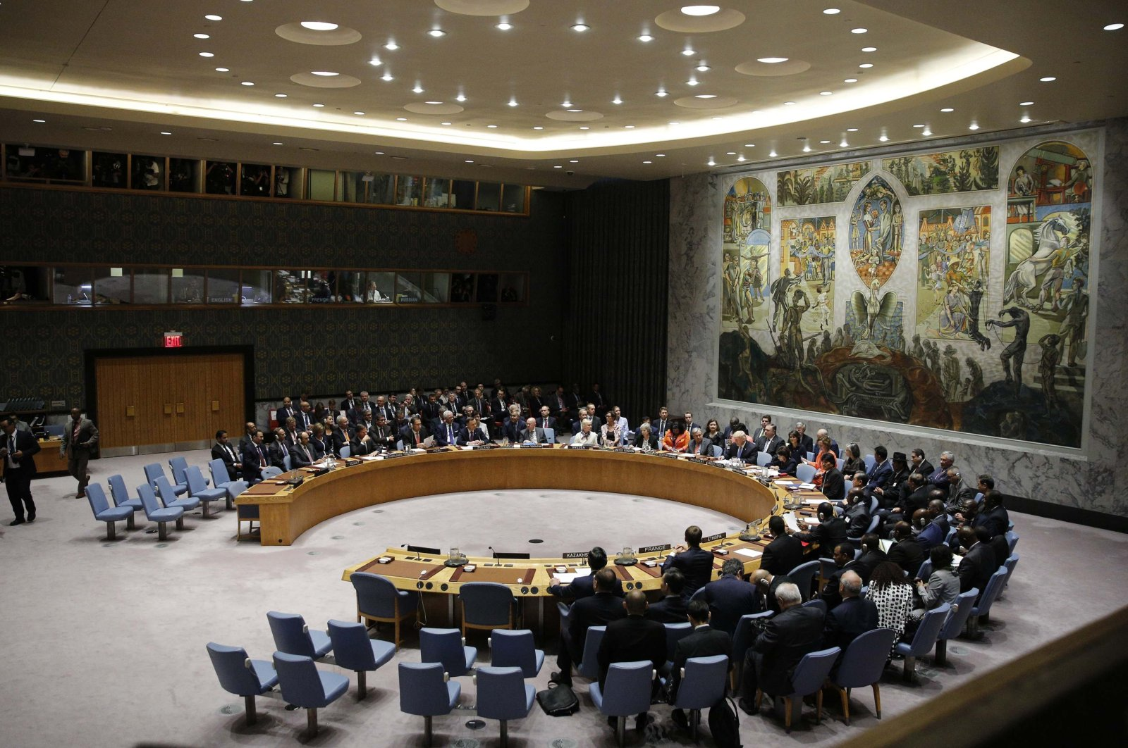 U.S. President Donald Trump chairs a meeting of the United Nations Security Council held during the 73rd sessions of the U.N. General Assembly, New York, Sept. 26, 2018. (Reuters Photo)