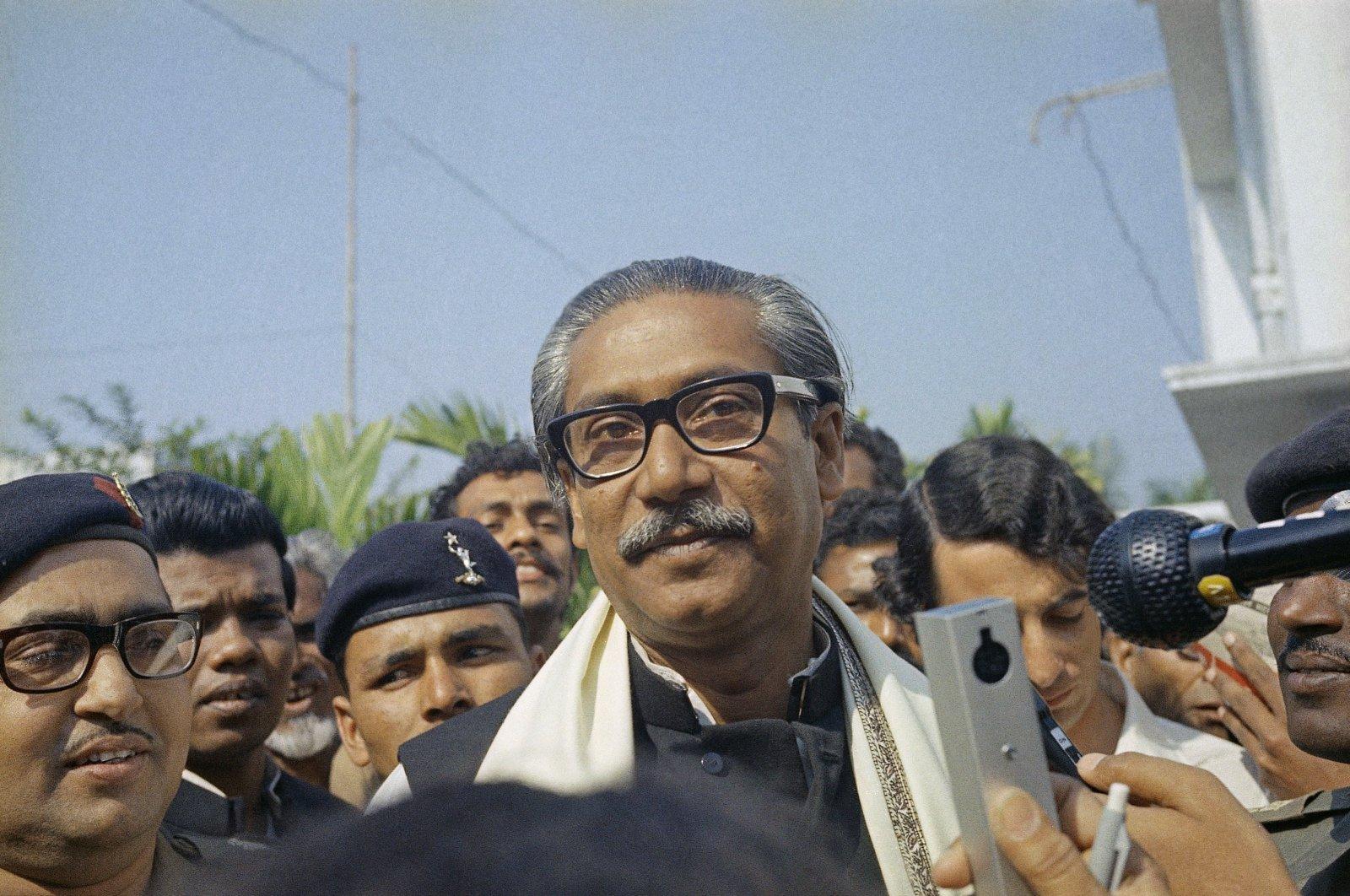 A 1972 file photo of Bangladesh Premier, Sheikh Mujibur Rahman. (AP Photo)
