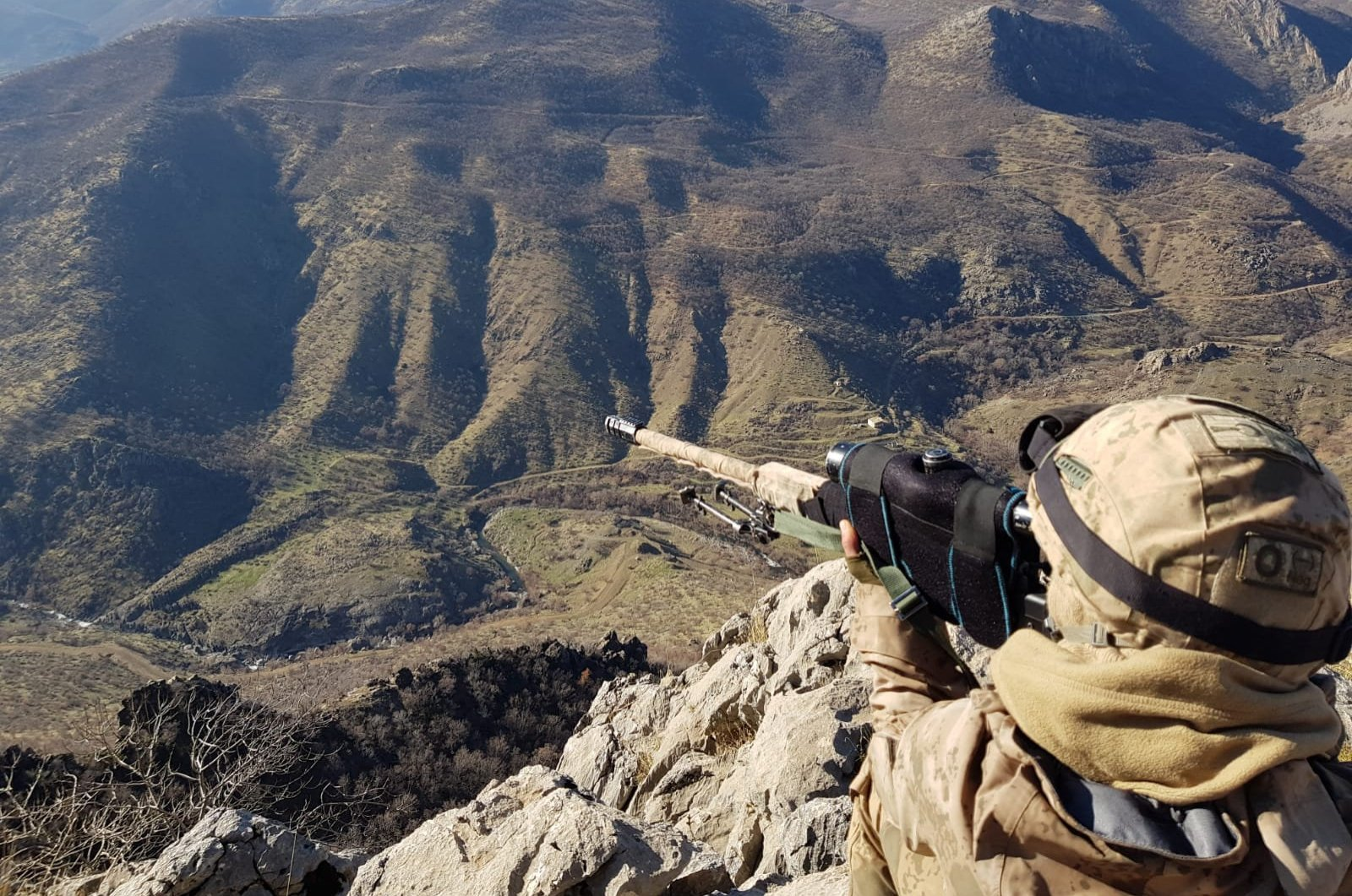 A Turkish soldier participates in Operation Kiran-8 against the PKK terrorists in southeastern Turkey's Bitlis province in this undated photo (Bitlis Governorate Photo)