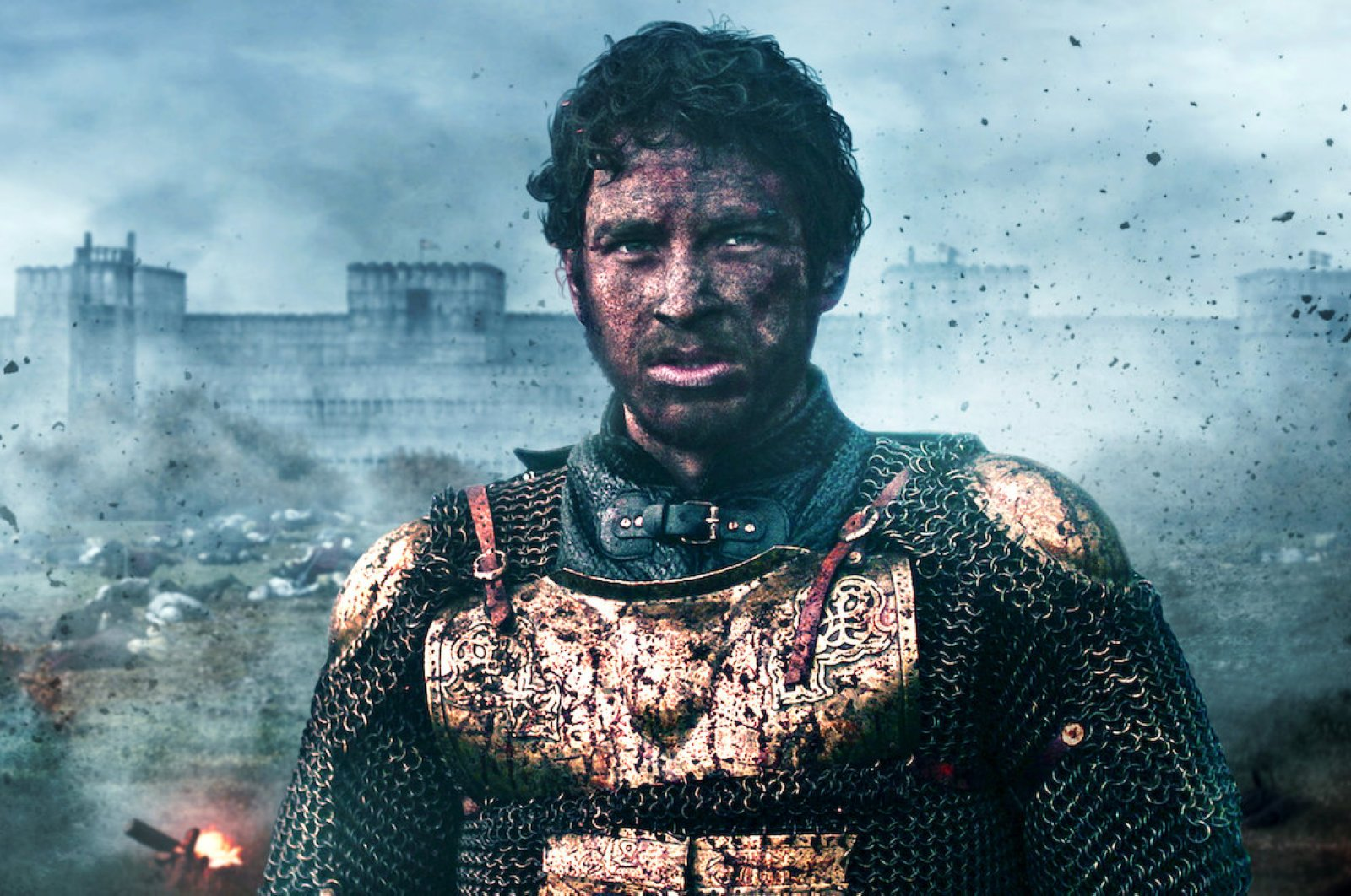 The scene in which Cem Yiğit Üzümoğlu as Mehmed the Conqueror eyes the city walls of Istanbul.