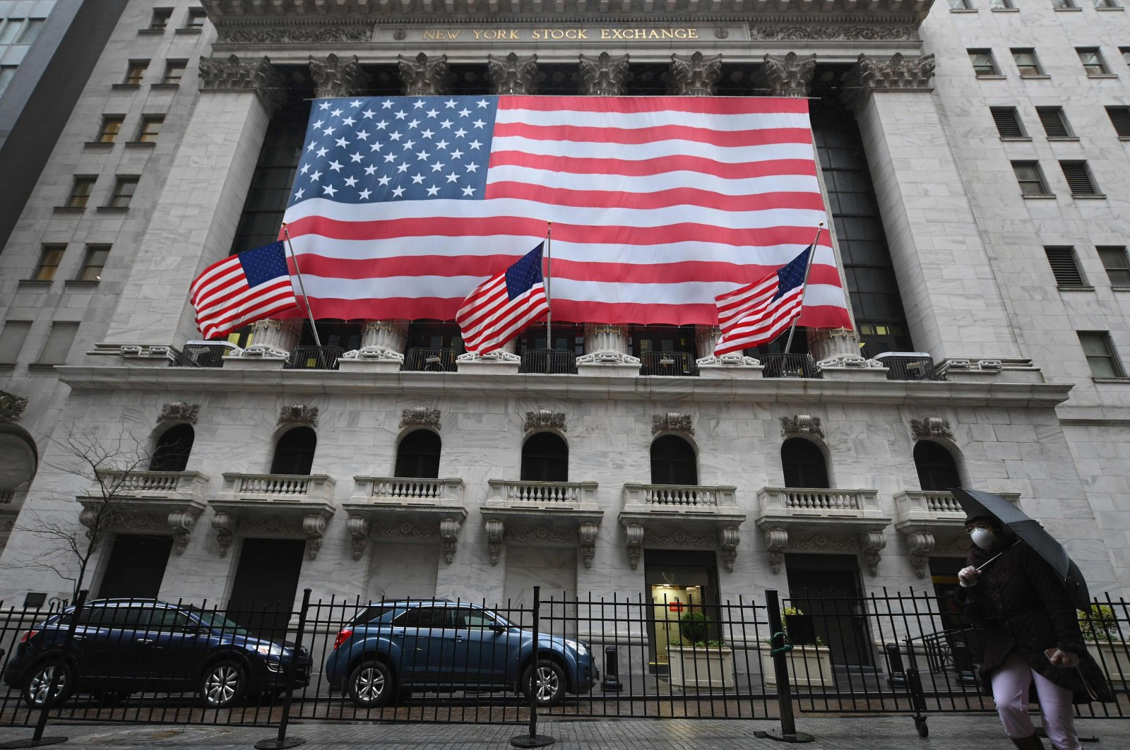 In this file photo a view of New York Stock Exchange is seen on Wall Street March 23, 2020 in New York City. (AFP Photo)