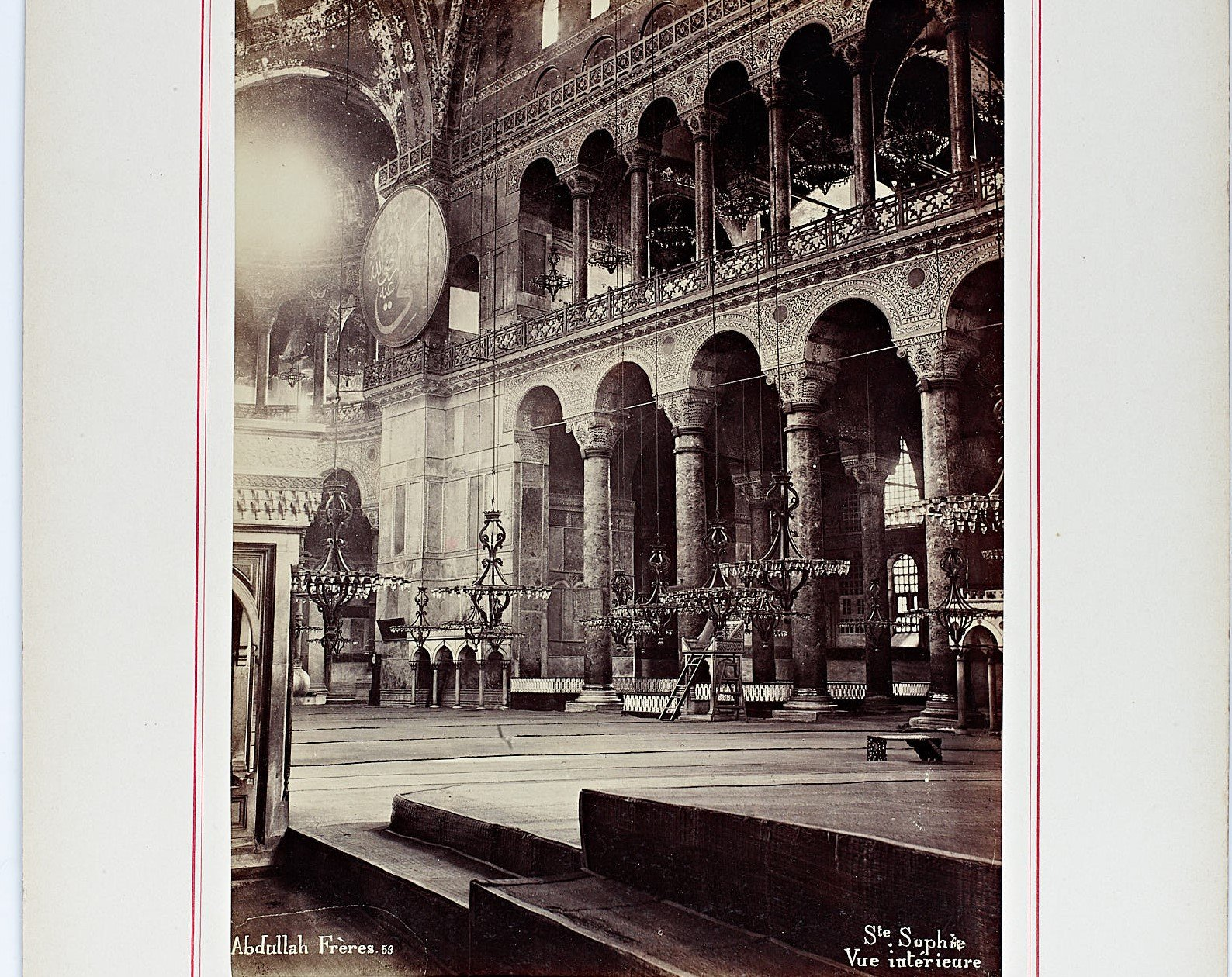 A photo of Hagia Sophia's interior by Abdullah Frerer from the collection. (Courtesy of Istanbul University)