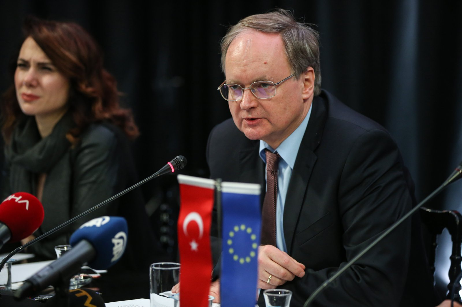 The head of EU delegation to Turkey, Christian Berger, speaks at a news conference on March 25, 2019. (AA File Photo)