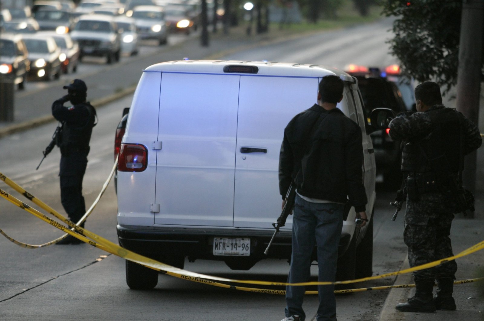 Police stand near a truck with several dead bodies inside in this file photo, in Guadalajara, Mexico, Nov. 24, 2011. (Reuters Photo)