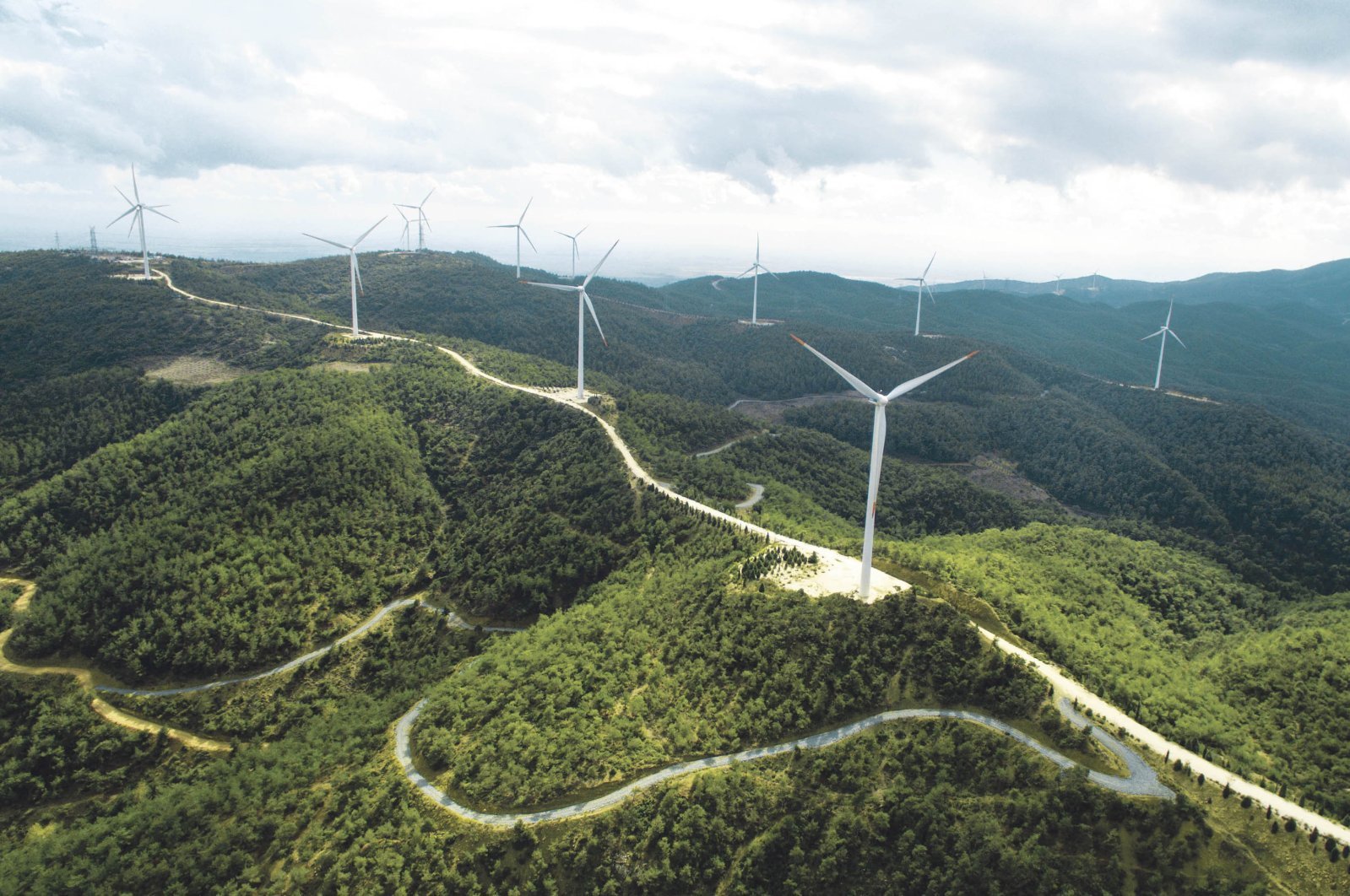 Wind turbines are seen in this undated photo. Companies in different fields of the energy sector in Turkey aim to protect employment during the coronavirus pandemic. (Sabah Photo)