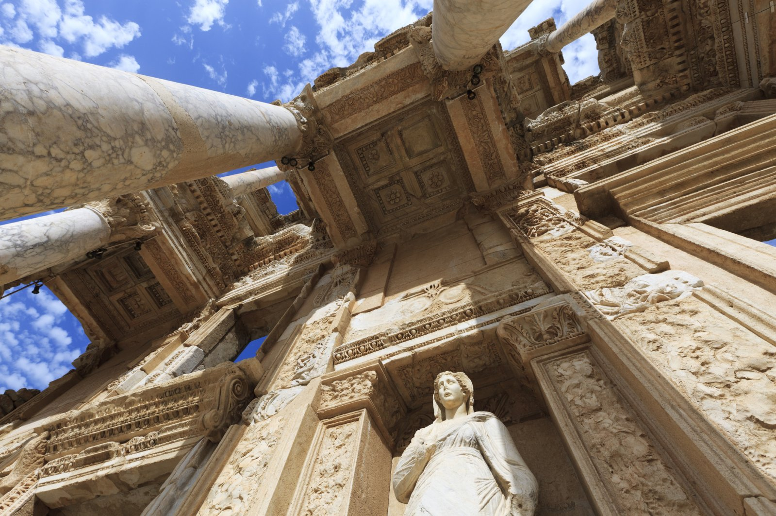 The Library of Celsus was built in A.D.135 in the ancient city of Ephesus. (iStock Photo)