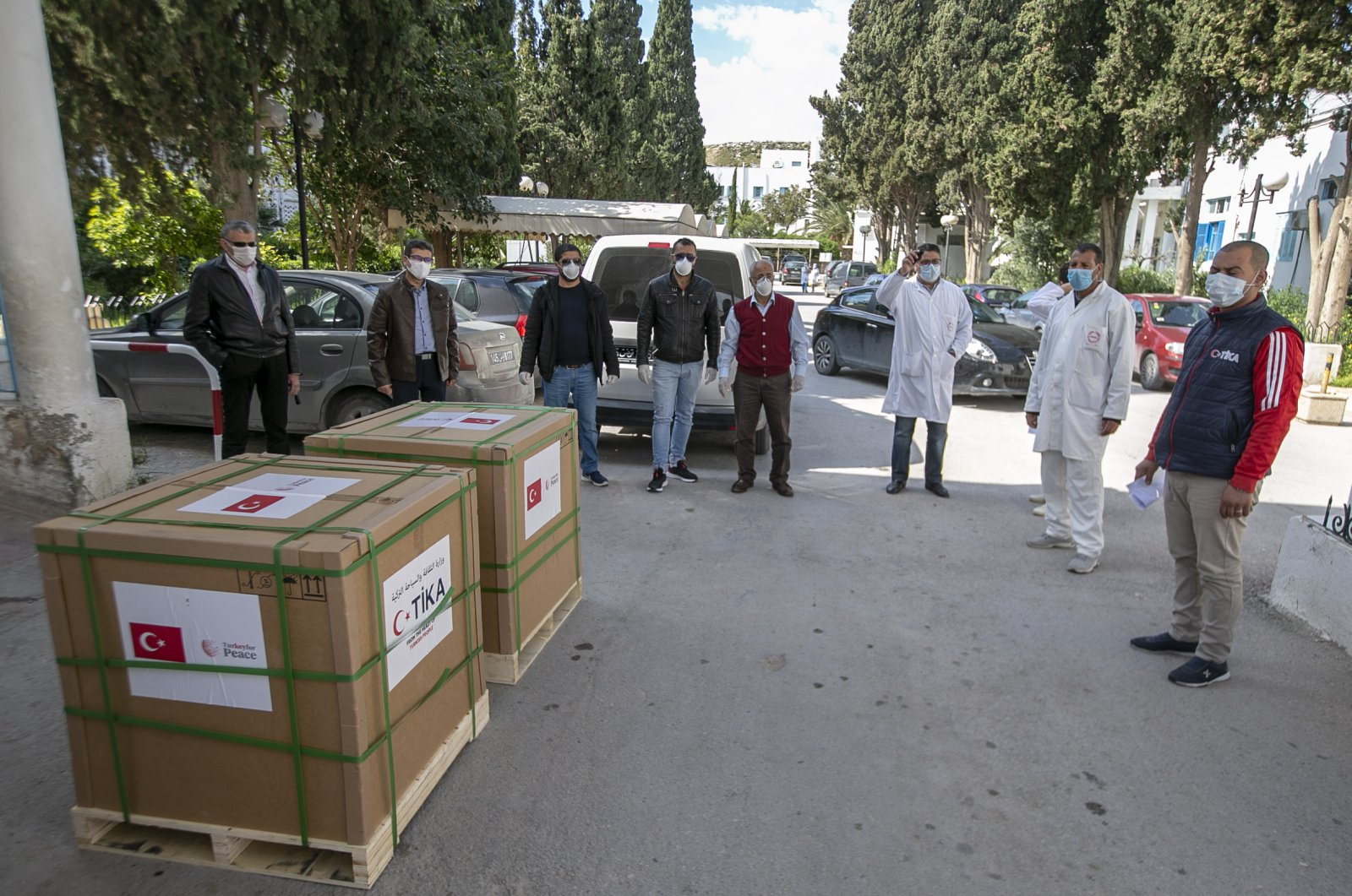 Turkish Cooperation and Coordination Agency (TİKA) has delivered aid packages to Tunisia in order to assist in the effort to stem the novel coronavirus pandemic, Friday, April 10, 2020. (AA Photo)