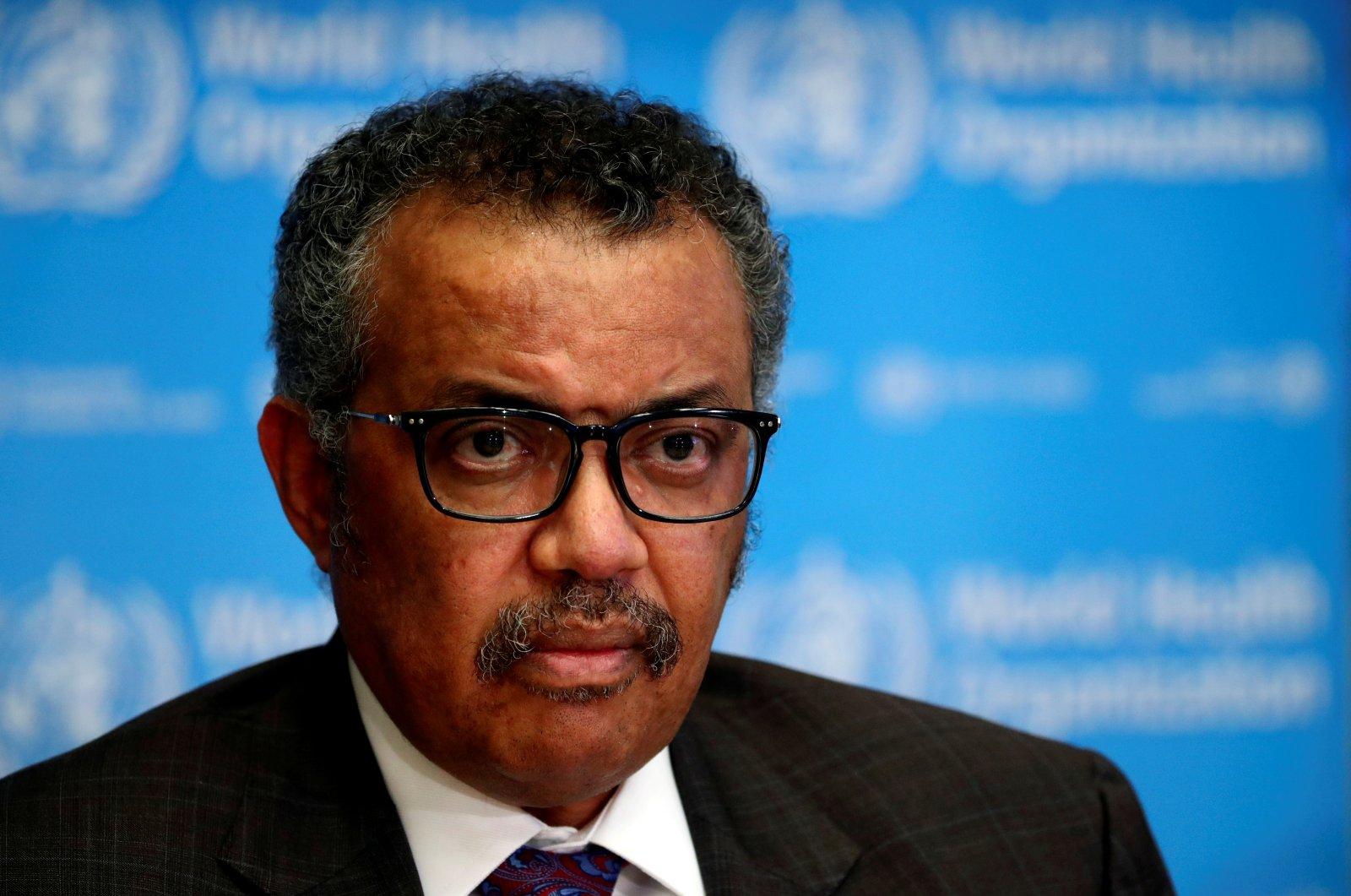 Director-General of the World Health Organization (WHO) Tedros Adhanom Ghebreyesus attends a news conference, Geneva, Switzerland, Feb. 28, 2020. (Reuters Photo)