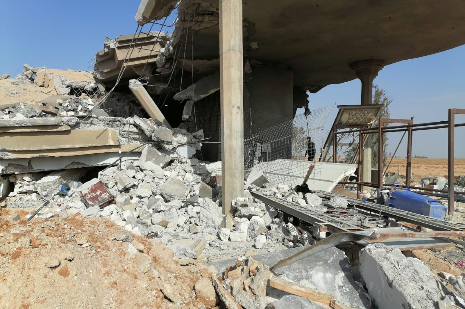 Destroyed headquarters of Kataib Hezbollah militia group are seen after in an air strike in Qaim, Iraq, December 30, 2019. (Reuters Photo)