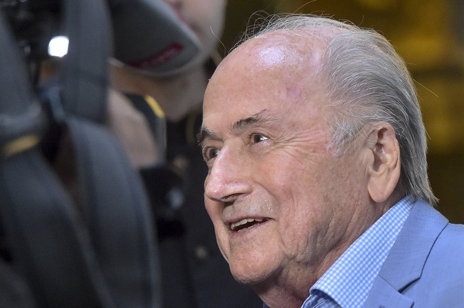 In this Tuesday, June 19, 2018 file photo, former FIFA President Joseph Blatter arrives at a hotel in Moscow, Russia. Five years into a sprawling investigation of soccer corruption, the first courtroom trial in Switzerland is due to begin Monday, March 9, 2020 in a 2006 World Cup fraud case. (AP Photo)