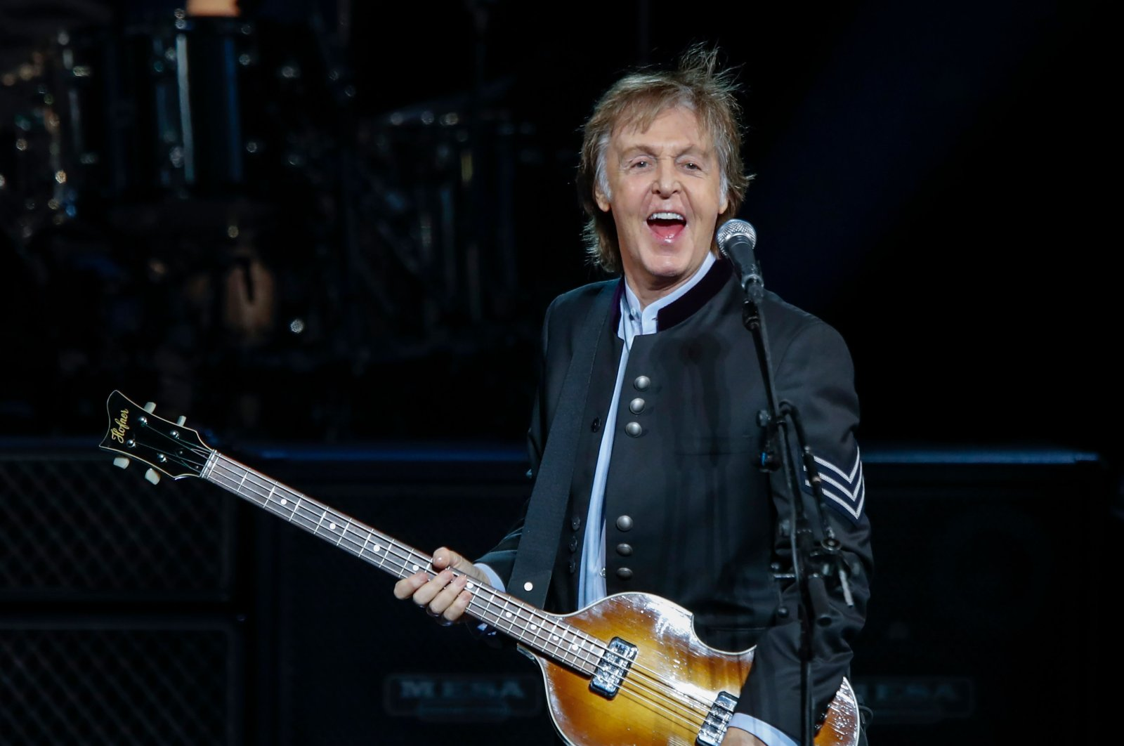 In this file photo taken on July 26, 2017 Sir Paul McCartney performs in concert during his One on One tour at Hollywood Casino Amphitheatre in Tinley Park, Illinois. (AFP Photo)