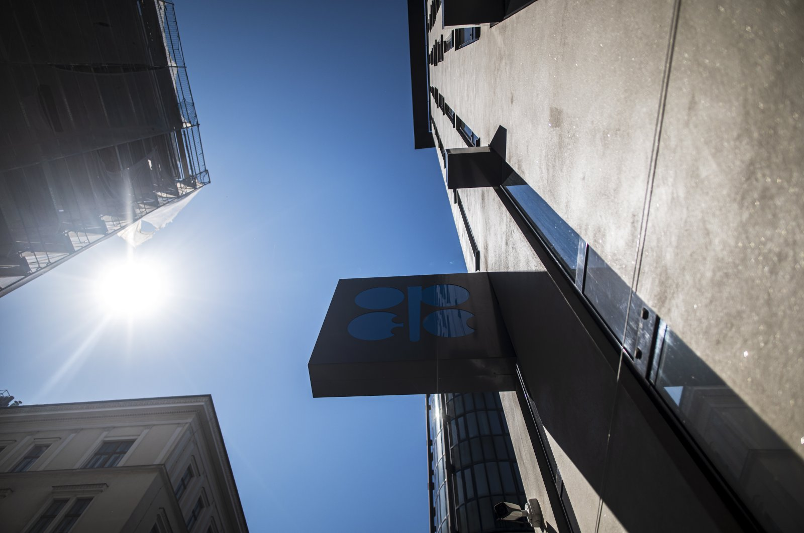 An exterior view of the Organization of Petroleum Exporting Countries (OPEC) headquarters in Vienna, Austria, April 9, 2020. (EPA Photo)