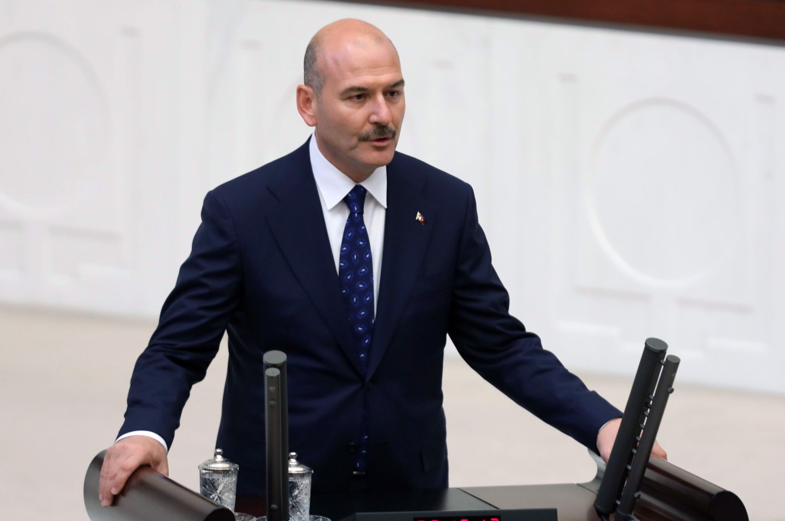 Interior Minister Suleyman Soylu is sworn in at the Grand National Assembly of Turkey (TBMM) in Ankara, Turkey, July 10, 2018. (AFP Photo)