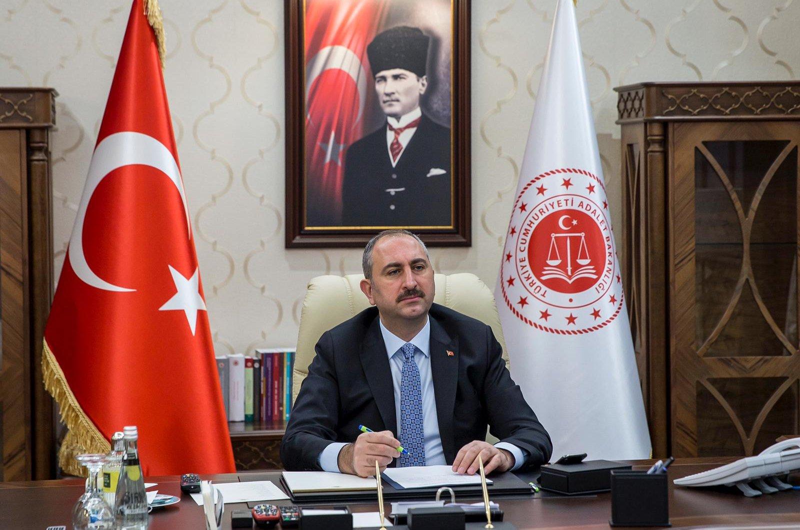 Justice Minister Abdulhamit Gül speaks in this undated photo, Ankara, Turkey. (DHA Photo)