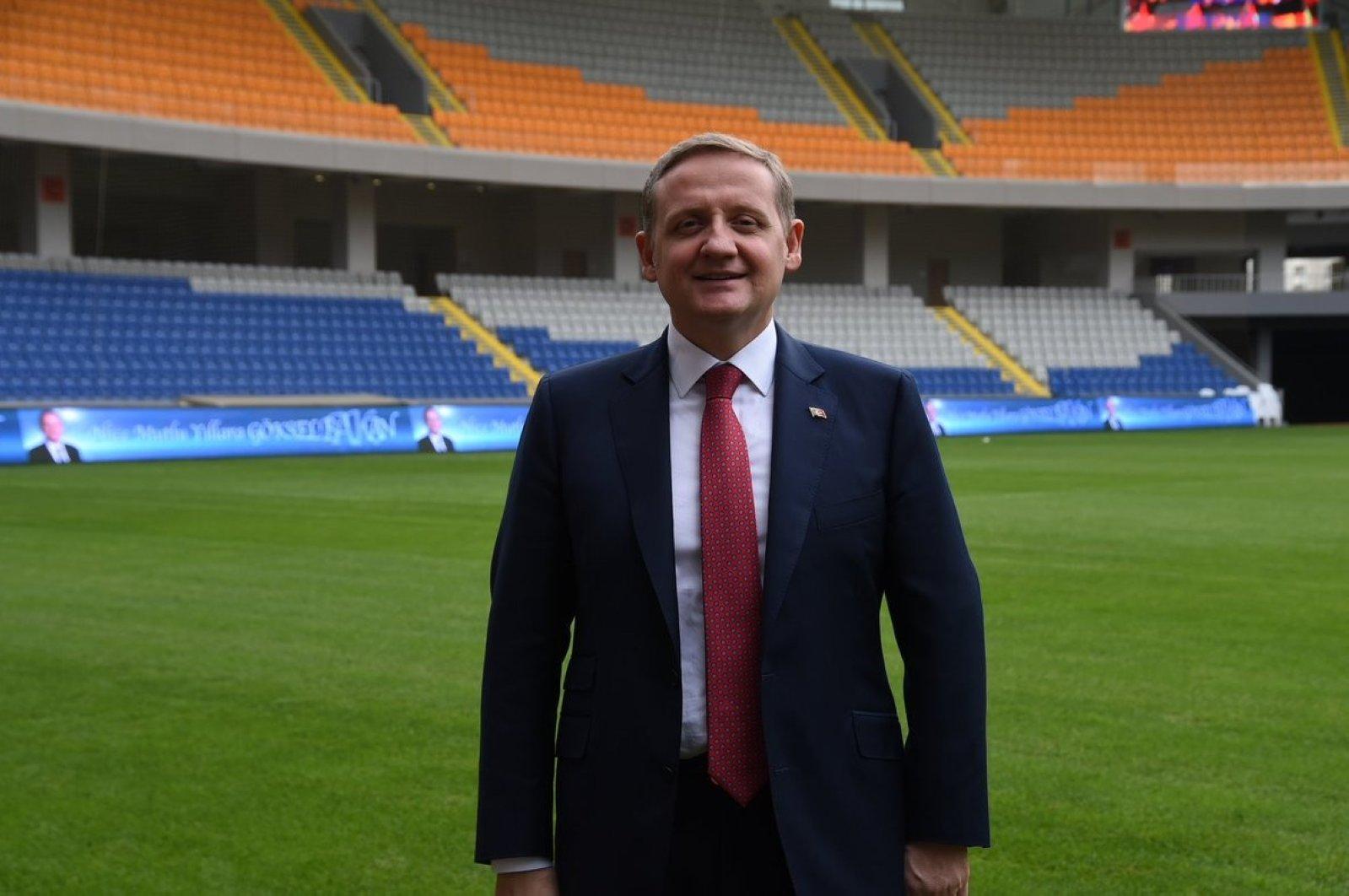 Göksel Gümüşdağ is seen in a stadium in Istanbul, Turkey in this undated photo. (İHA Photo)