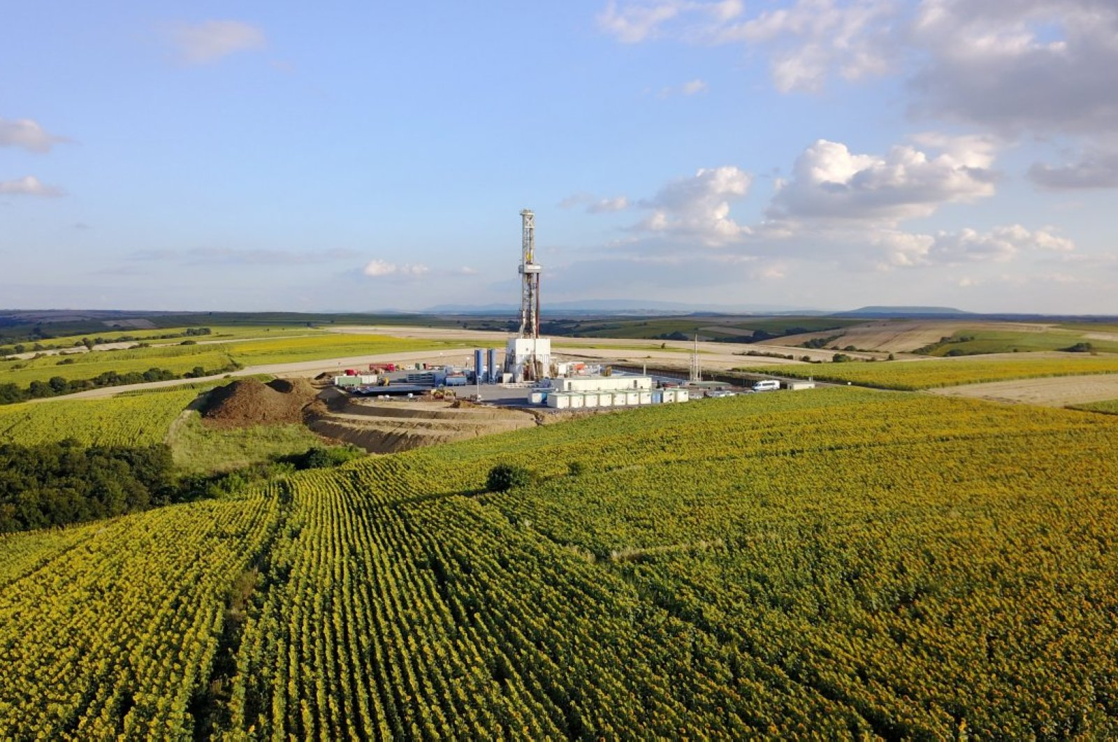 An undated view of the Yamalık-1 well in Turkey's Thrace region. (Courtesy of Equinor)