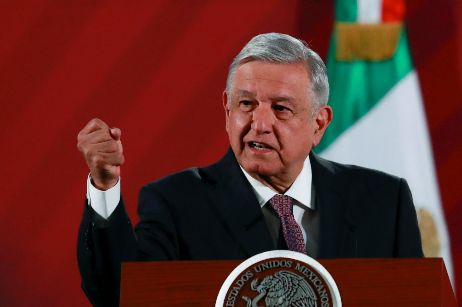 Mexico's President Andres Manuel Lopez Obrador speaks during a news conference at the National Palace in Mexico City, Mexico, March 9, 2020. (Reuters Photo)