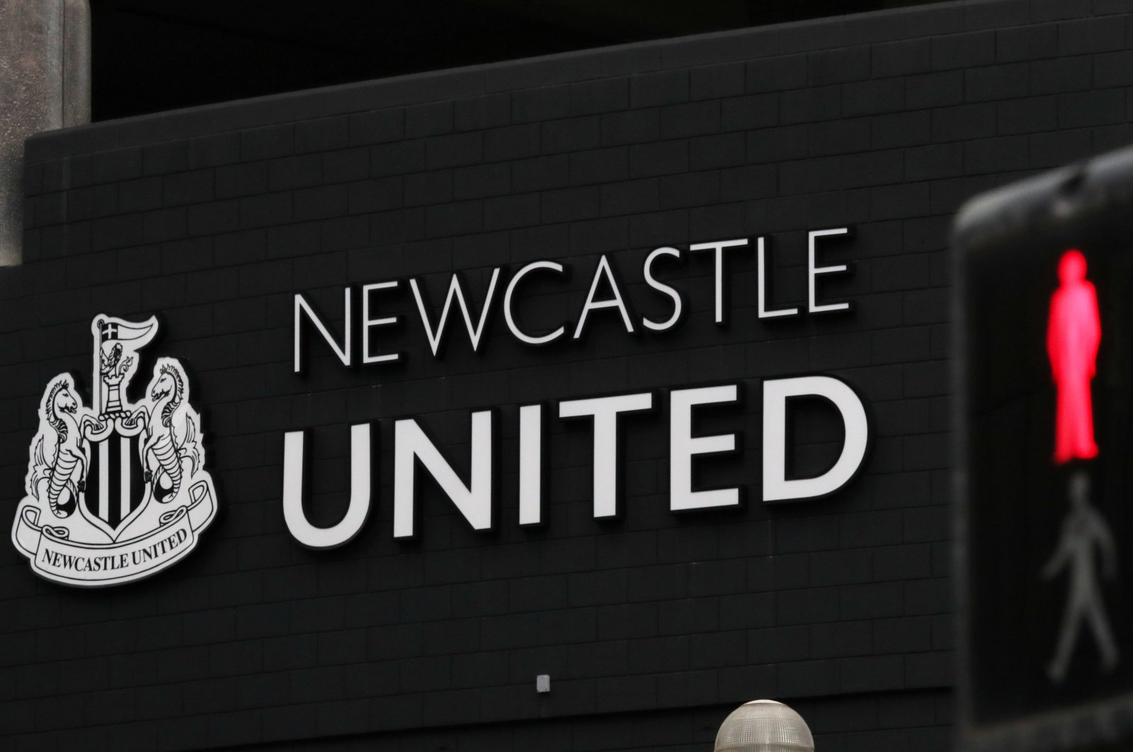 General view of Newcastle United's home stadium St James' Park, Newcastle, U.K., March 14, 2020. (Reuters Photo)