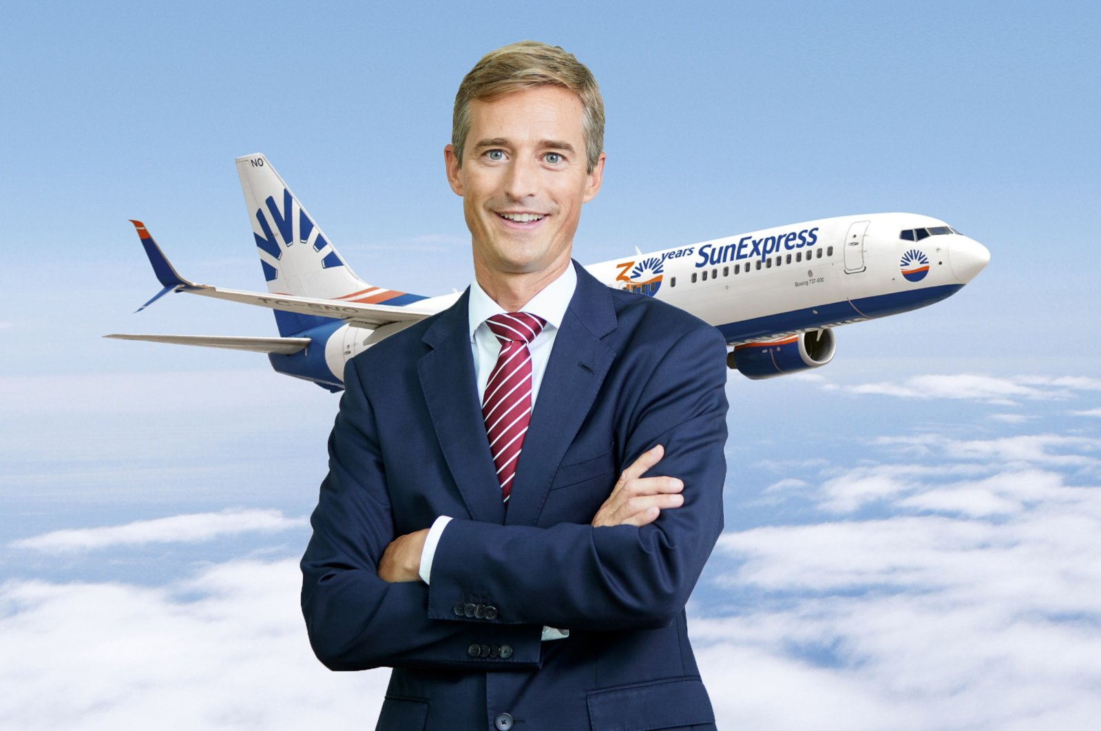 Max Kownatzki, the new chief executive officer of SunExpress, a joint venture of Turkish Airlines and Lufthansa. (AA Photo)