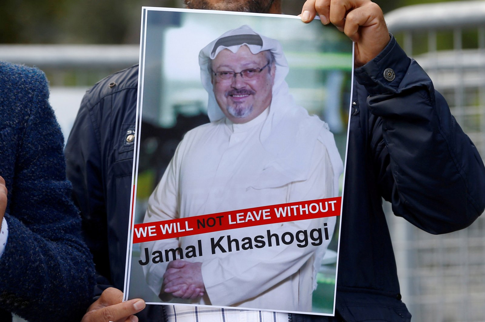 A demonstrator holds a picture of Saudi journalist Jamal Khashoggi during a protest in front of Saudi Arabia's consulate in Istanbul, Turkey, Oct. 5, 2018. (Reuters File Photo)
