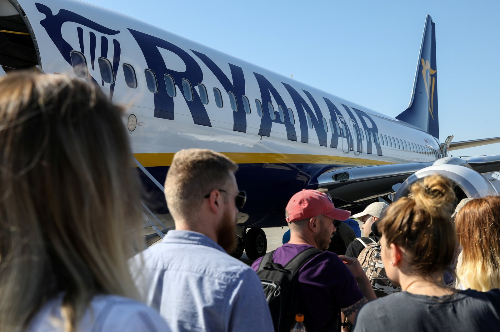 Passengers board a Ryanair flight in Gdansk, Poland, June 19, 2019. (Reuters Photo)