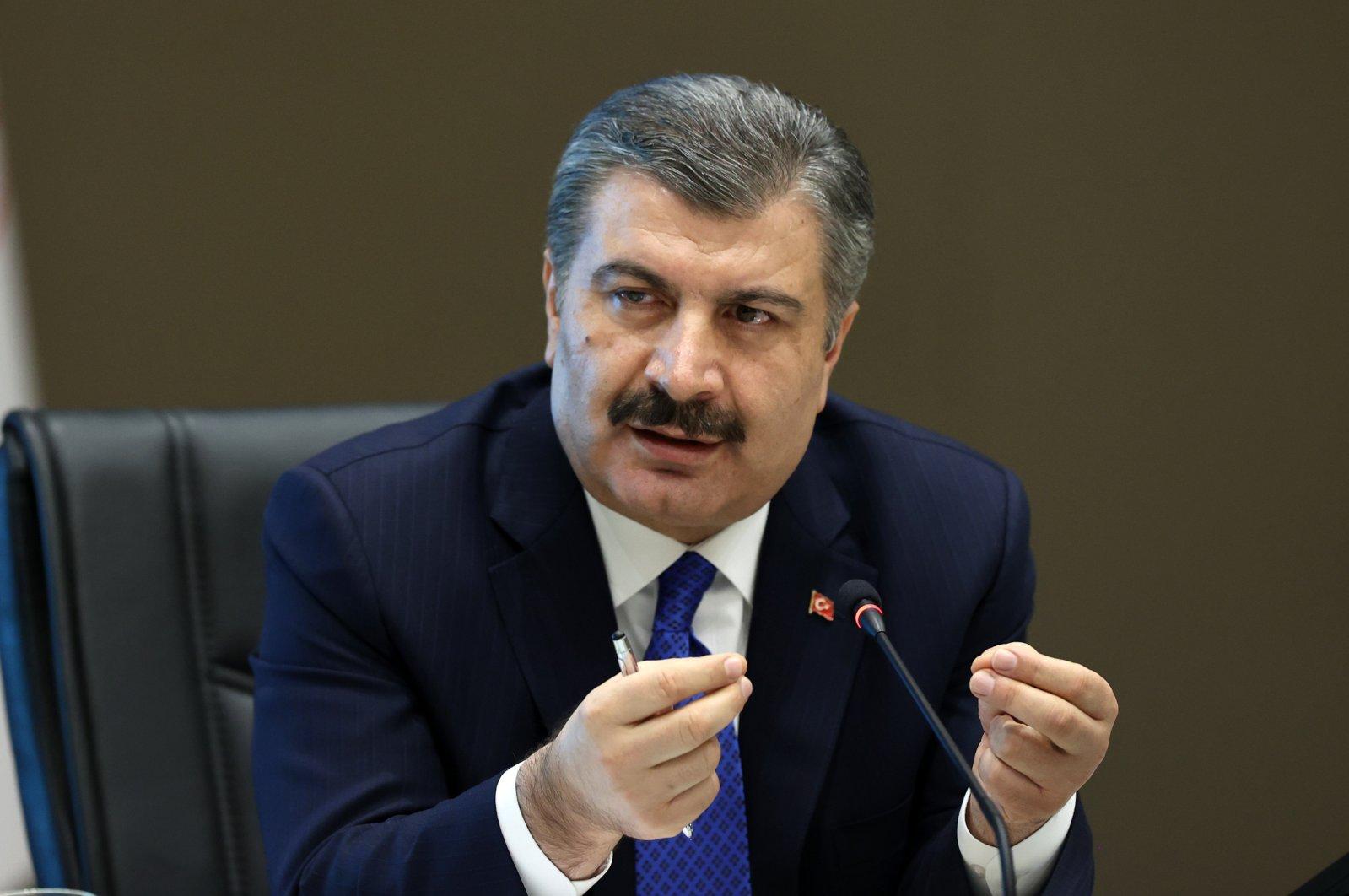 Health Minister Fahrettin Koca. (IHA)