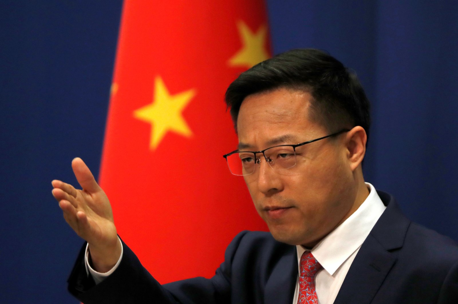 Chinese Foreign Ministry spokesman Zhao Lijian attends a news conference in Beijing, April 8, 2020. (Reuters Photo)