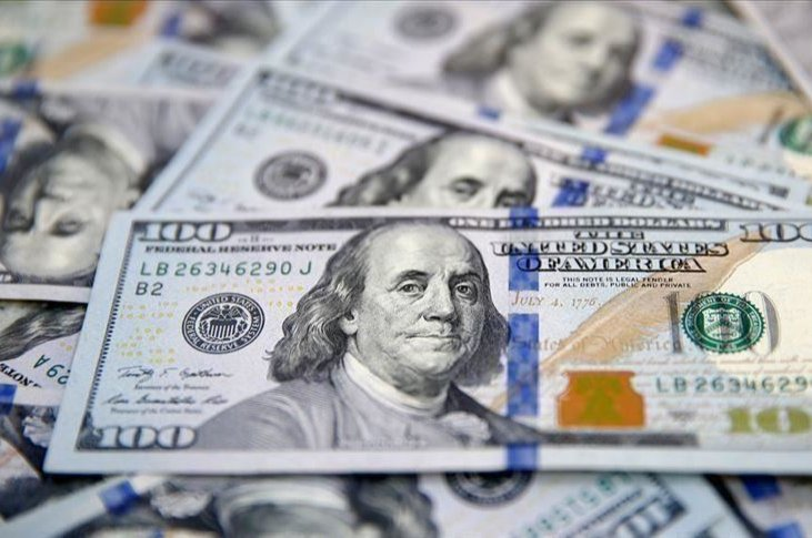 This Jan. 22, 2020, file photo shows the likeness of Benjamin Franklin on $100 bills in Dallas, the U.S. (AP photo)