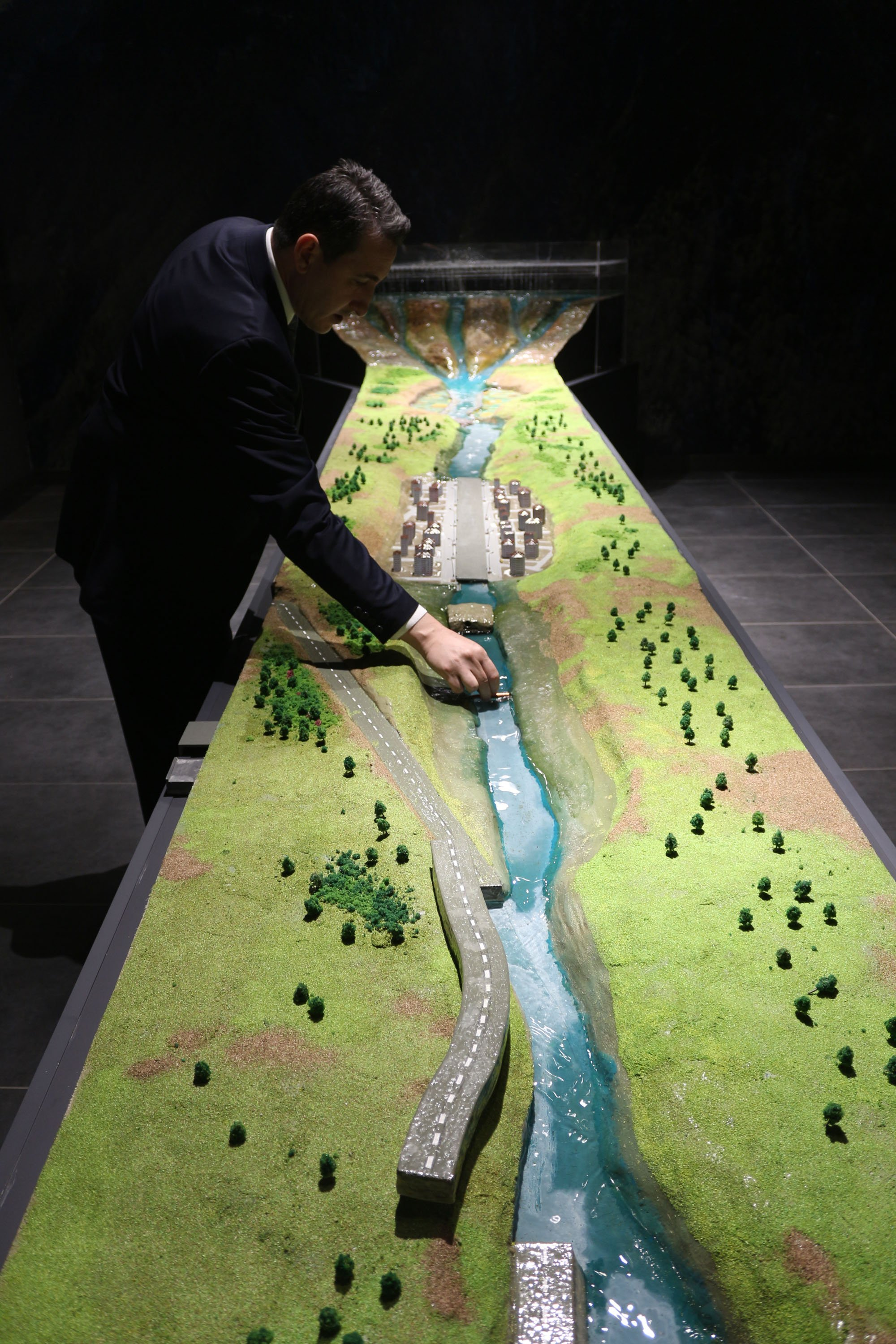 A city flood model at the museum. (DHA Photo)