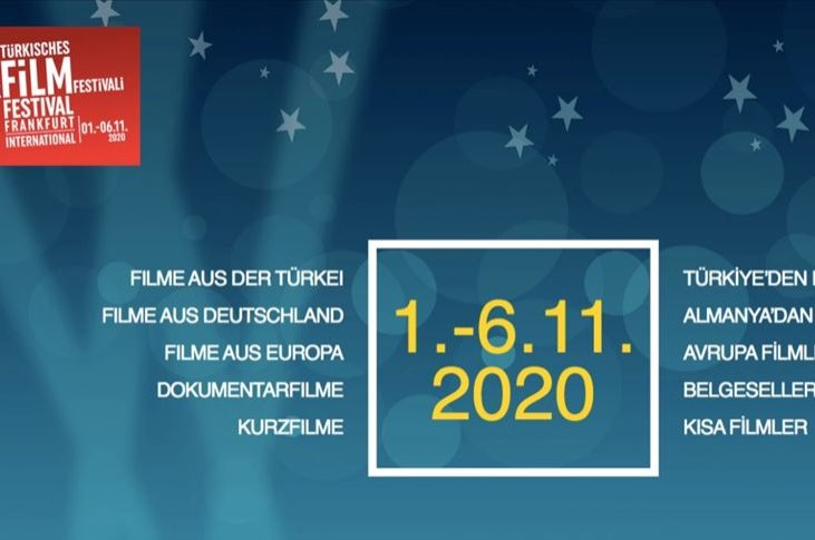 A poster advertises the 20th International Frankfurt Turkish Film Festival, which will be held Nov. 1-6, 2020. (AA Image)