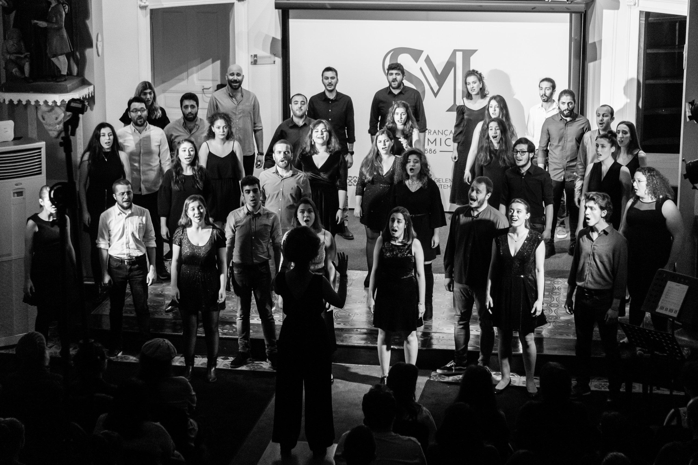 Chromas Choir performs onstage, Istanbul, Turkey, Dec. 4, 2019. (Photo by Chromas Choir)