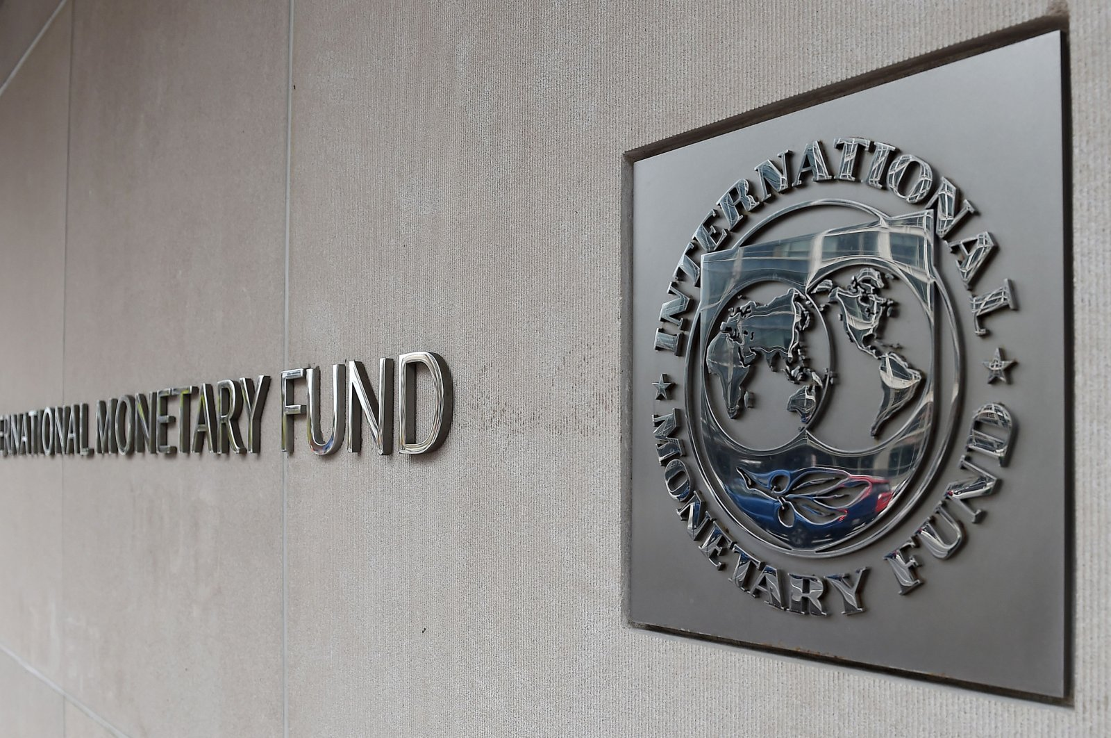 En exterior view of the building of the International Monetary Fund (IMF) in Washington, D.C., March 27, 2020. (AFP Photo)