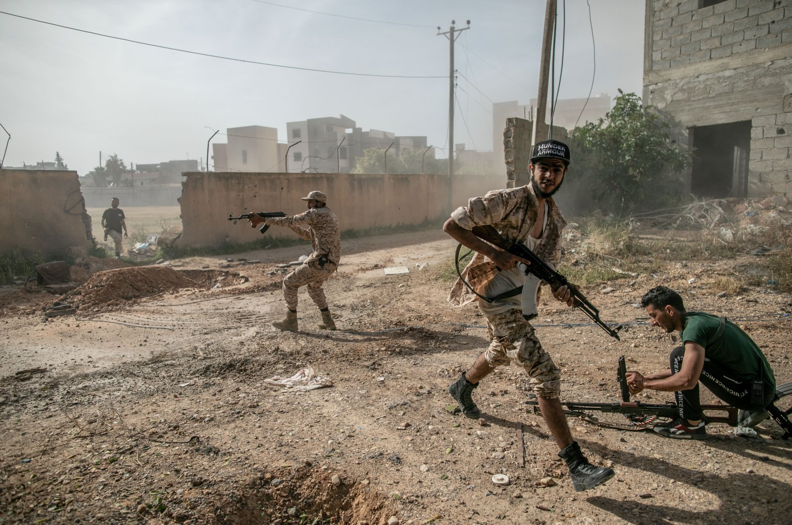 The GNA launched 17 airstrikes to recapture Tarhuna, aiming at Haftar forces and their military vehicles, Sunday, April 19, 2020. (AA)