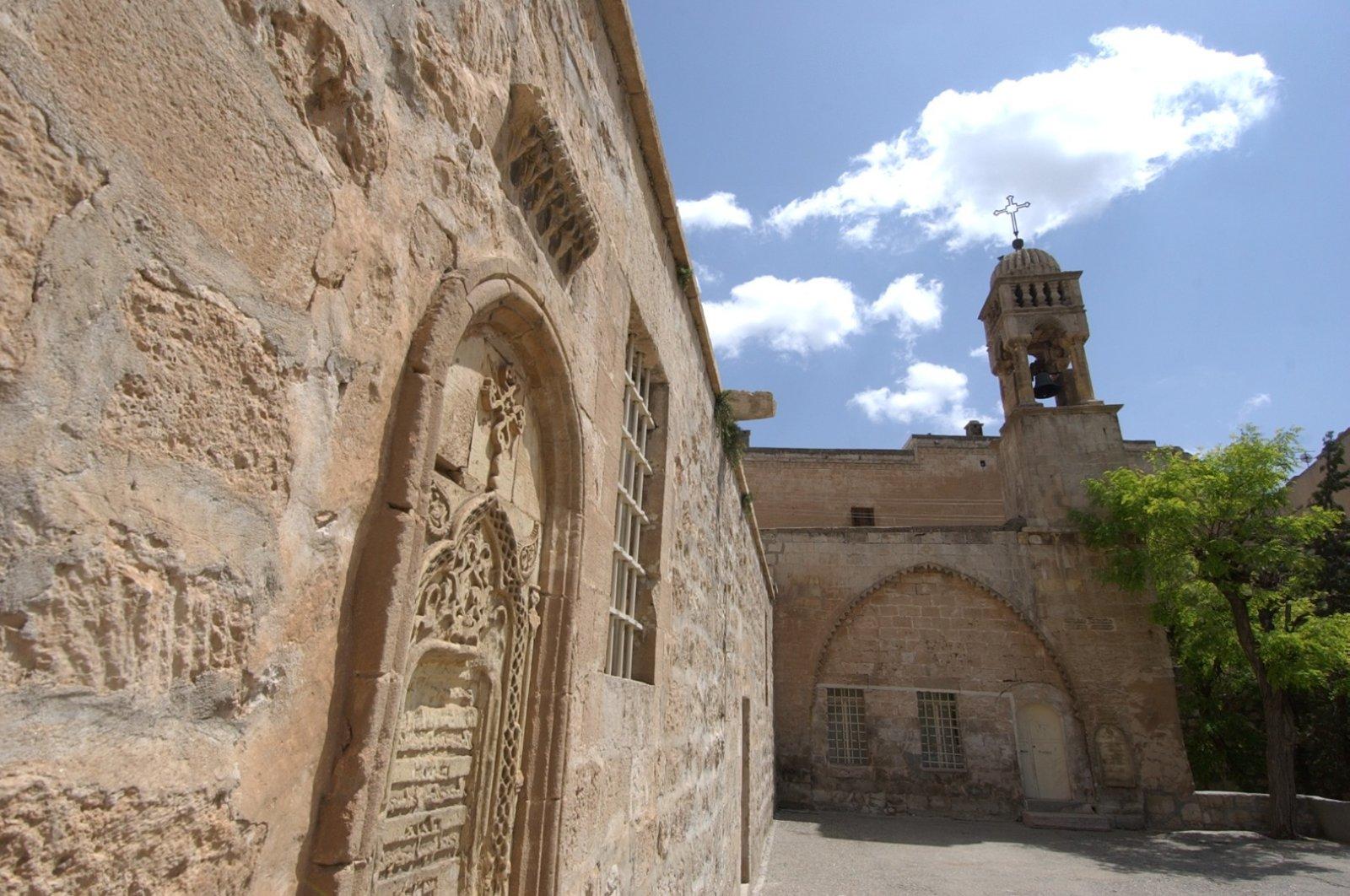 The historic Kırklar Church was unusually empty on Easter Sunday as the faithful followed guidelines to stem the spread of the coronavirus, Mardin, Turkey, April 19, 2020. (DHA Photo)