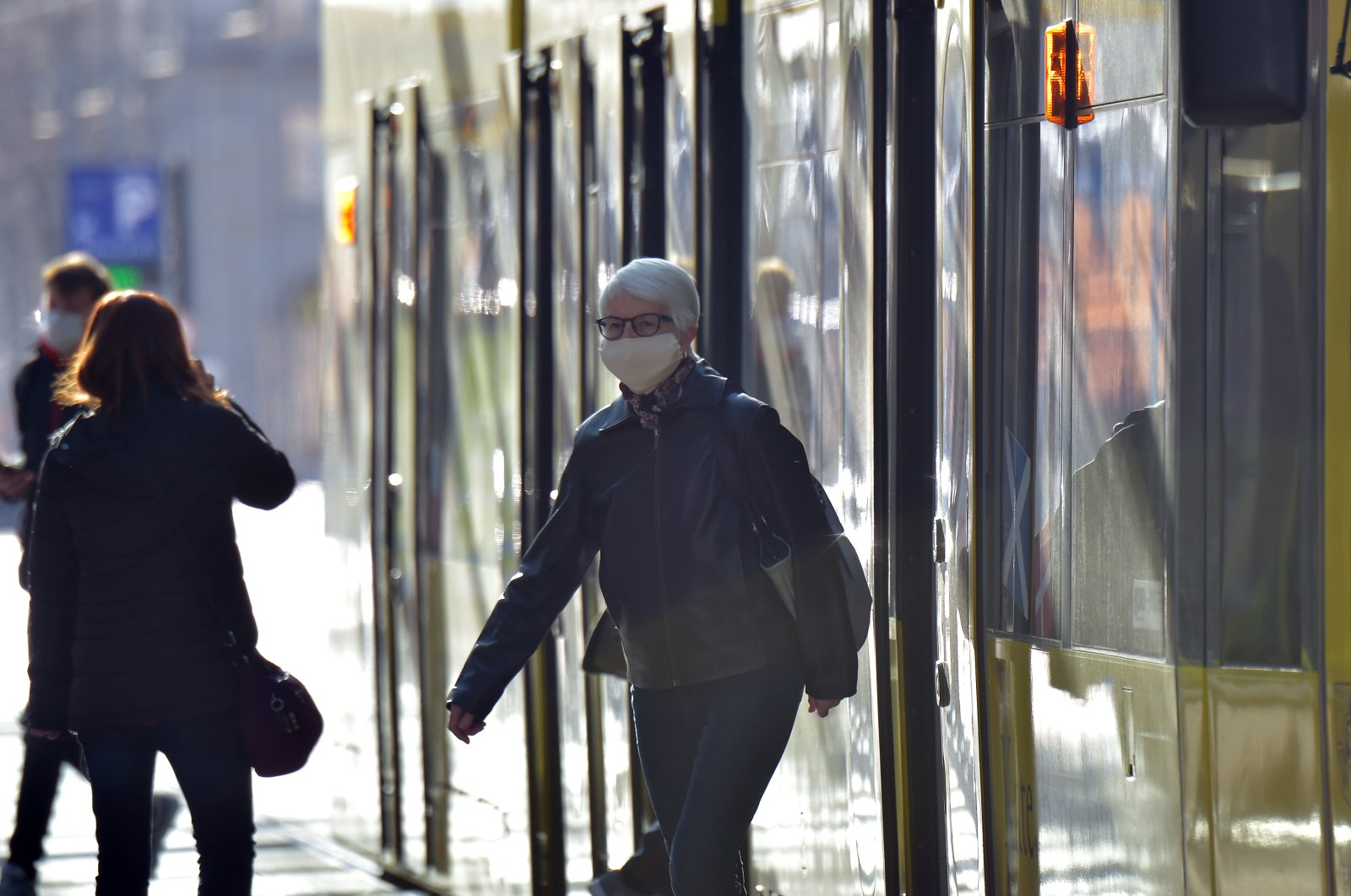 People on public transport wear protective masks, as the spread of COVID-19 continues in Dresden, Germany, April 20, 2020. (Reuters Photo)