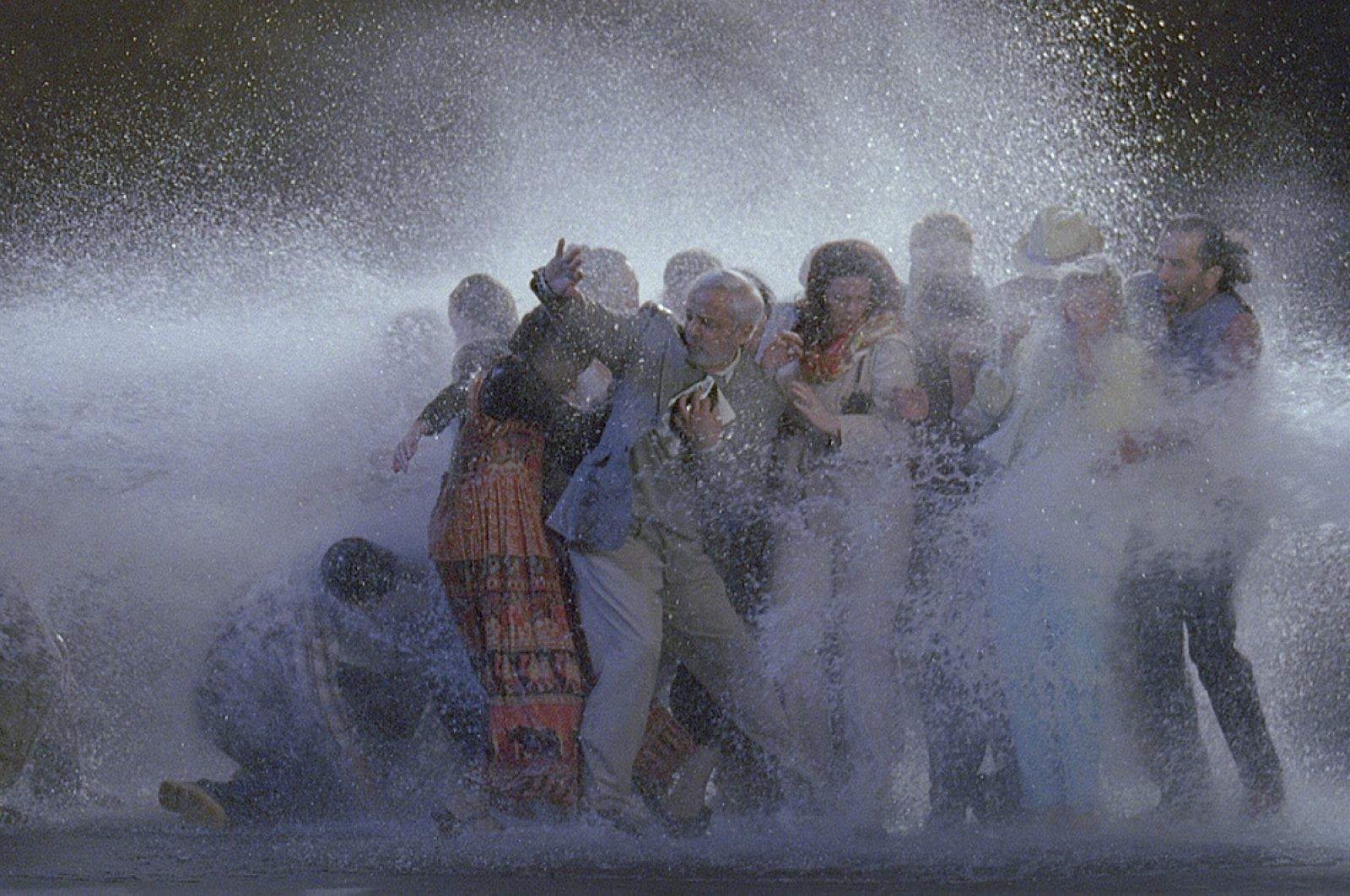 "Bill Viola, ""The Raft,"" May 2004, video-sound installation."
