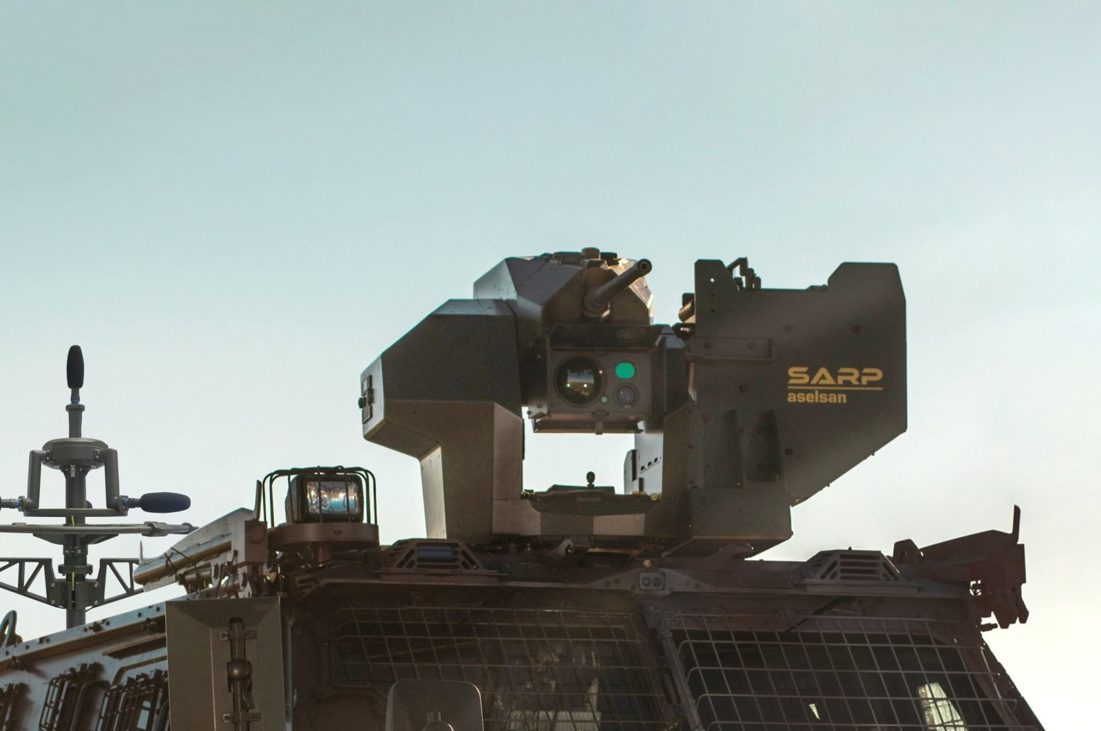 SARP Remote Controlled Stabilized Weapon Platform by Turkish defense giant ASELSAN is seen in this undated photo. (İHA Photo)