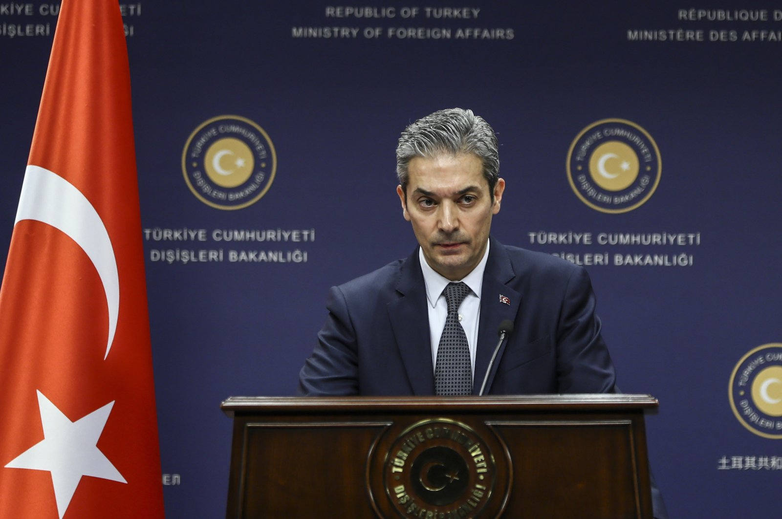 Hami Aksoy, spokesman for the Turkish Foreign Ministry. (AA Photo)