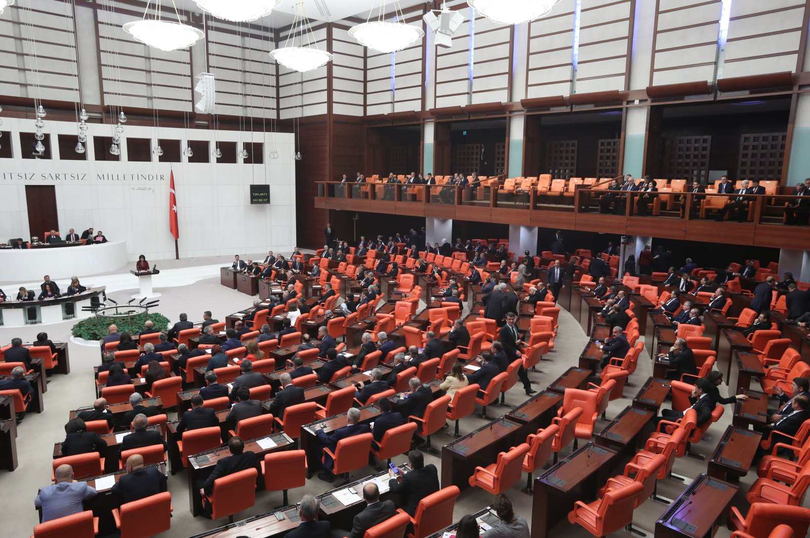 A special session of Parliament for the celebration of National Sovereignty and Children's Day as well as the 100th anniversary of the foundation of Parliament will be held on April 23, 2019. (Photo by Ali Ekeyılmaz/Daily Sabah)