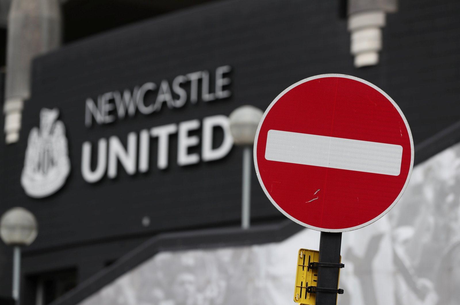 General view outside Newcastle United's home stadium St. James' Park as the Premier League is suspended due to the number of coronavirus cases growing around the world, Newcastle, U.K., March 13, 2020. (Reuters Photo)
